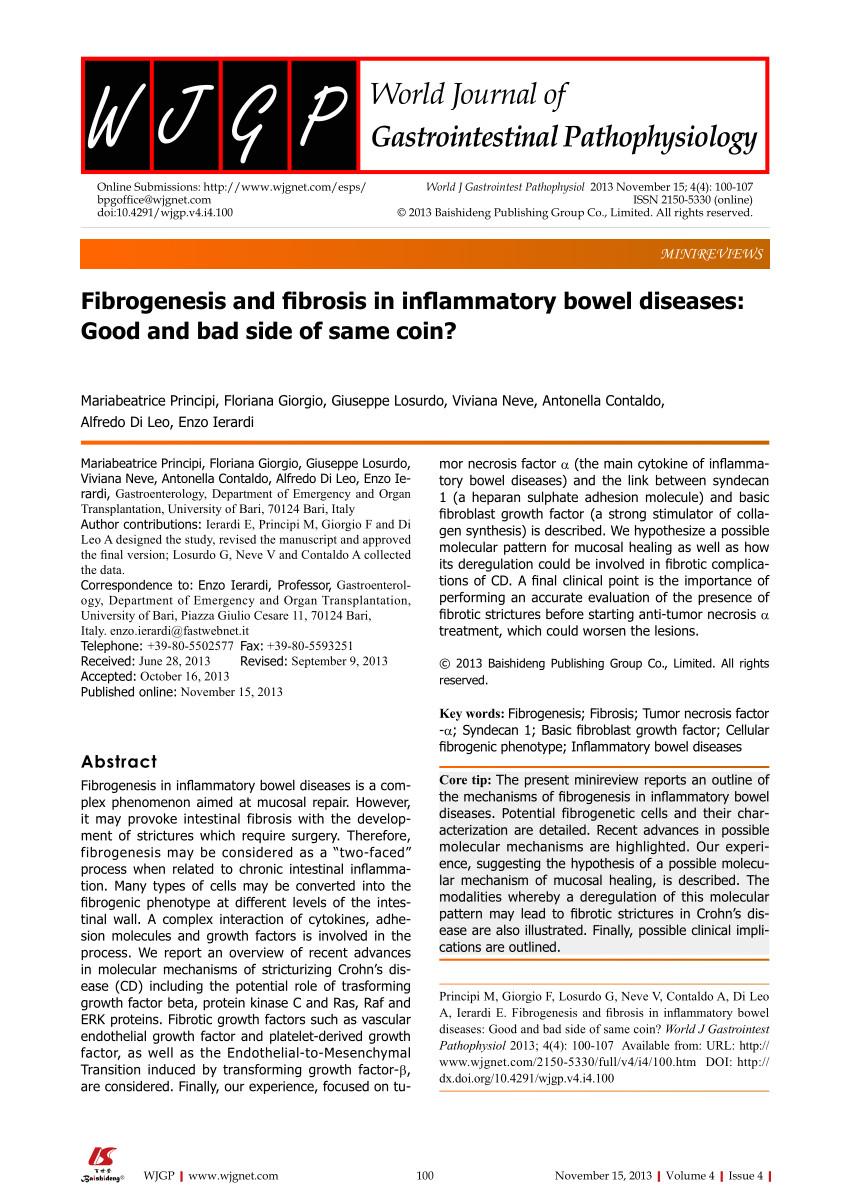pdf altered molecular pattern of mucosal healing in crohn s disease fibrotic stenosis