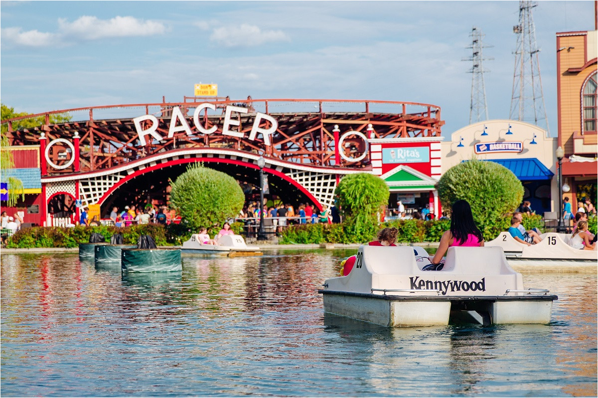 paddle boating on the lagoon at kennywood amusement park pittsburgh