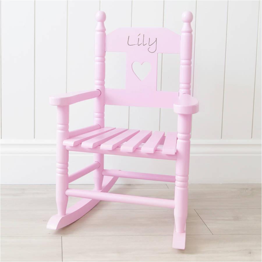 personalised pink children s rocking chair rocking toys