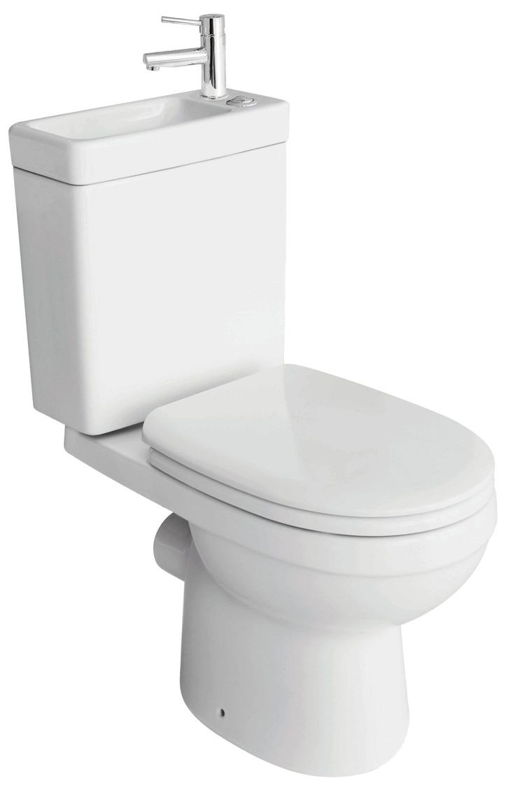 cooke lewis duetto close coupled toilet with integrated basin with soft close seat