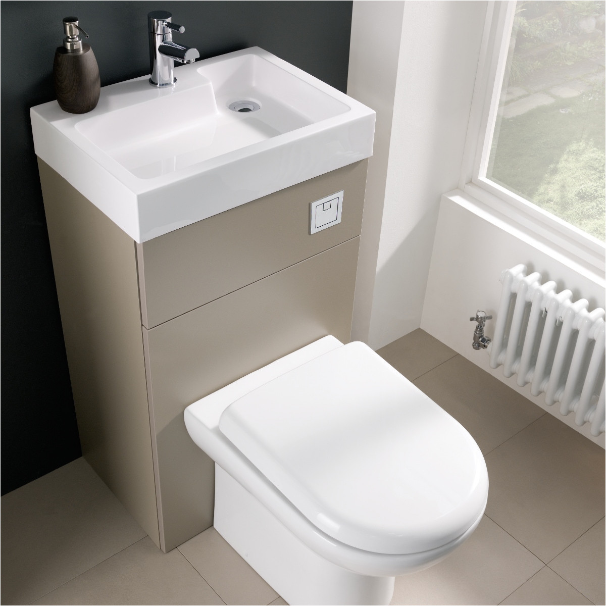 premier athena two in one vanity toilet unit stone grey 500mm