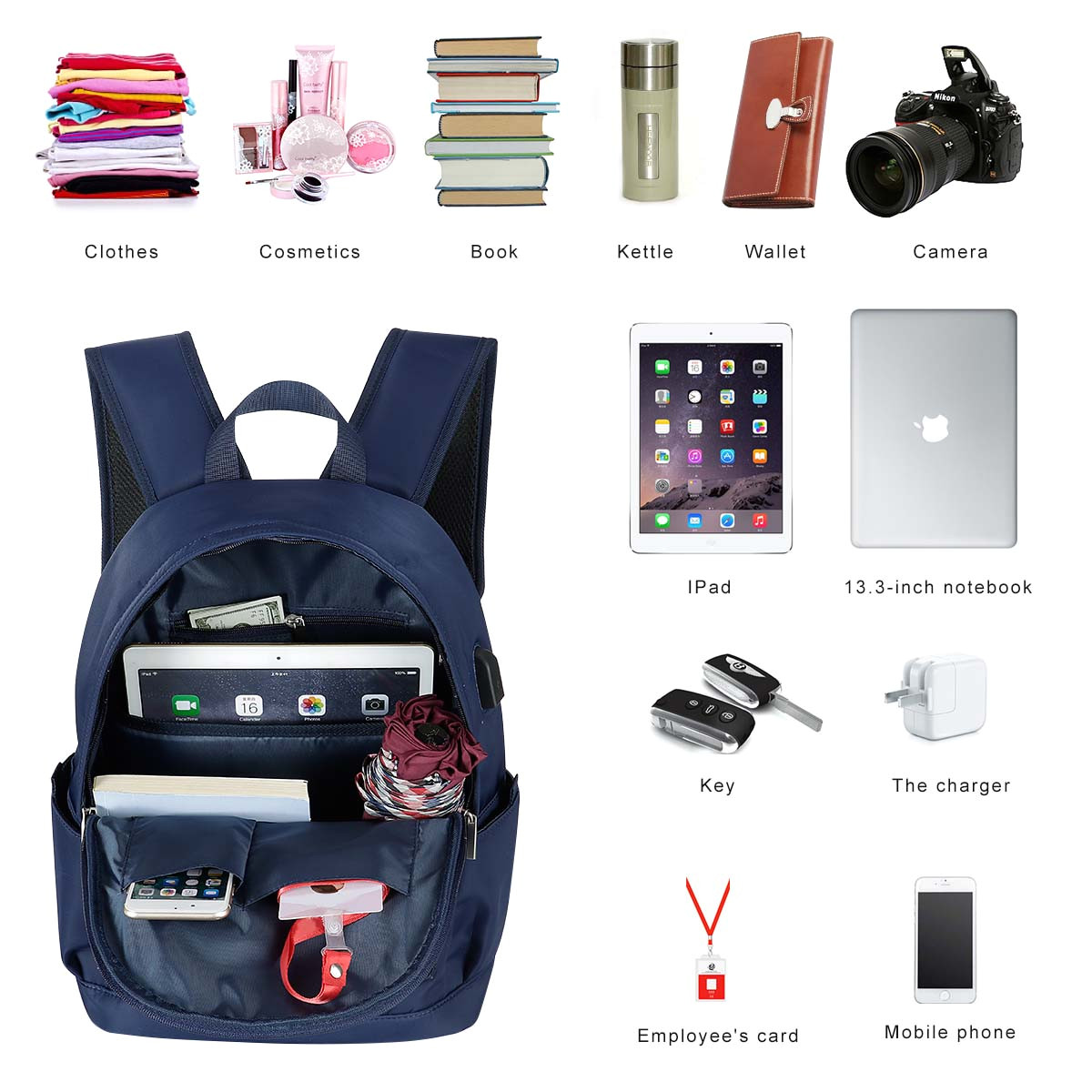 2019 christmas gift cool travel waterproof laptop backpack bookbags for teen girls boys women 797