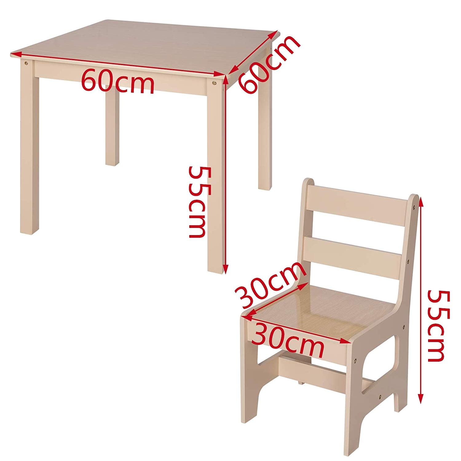 woltu wooden kids children s desk table with 2 chairs stools set for preschoolers boys and girls sg001 amazon co uk kitchen home