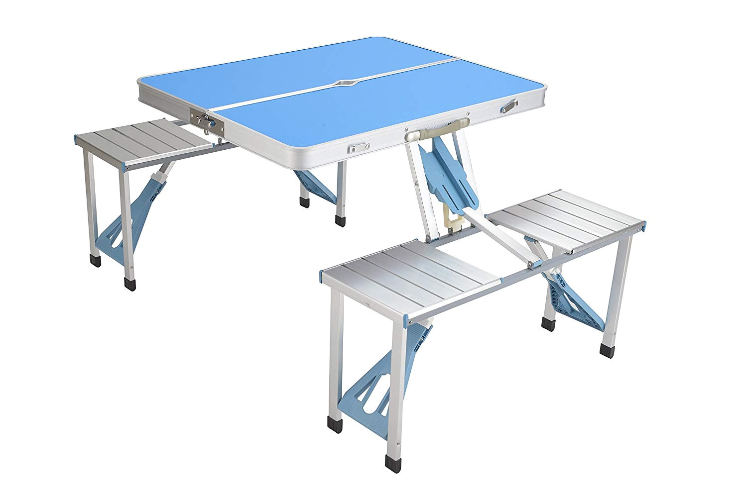 equal heavy duty portable aluminium foldable picnic table for camping hiking purpose