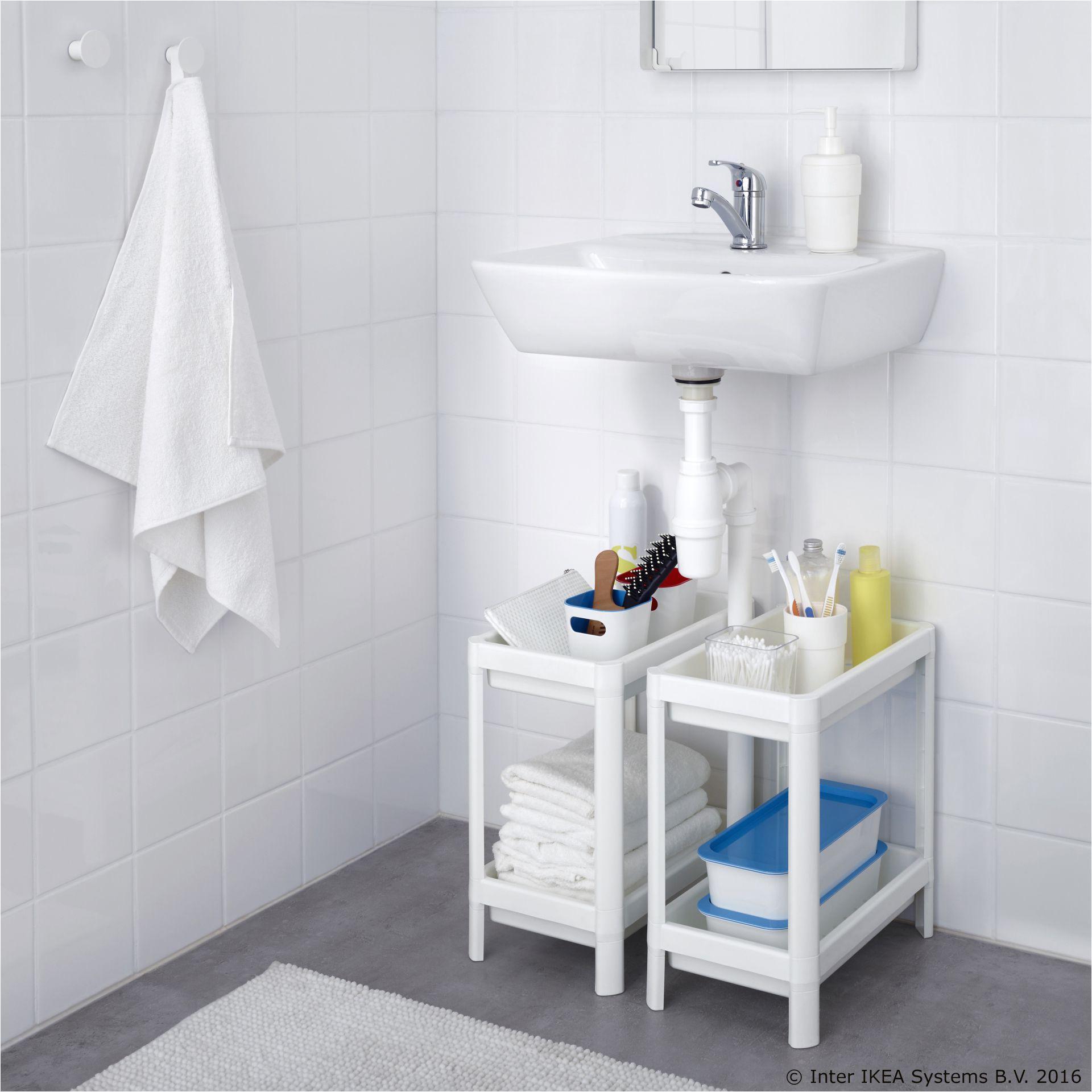 Tri Fold Mirror Ikea Vesken Regal Bijela Kupaonica Pinterest Bathroom Ikea and