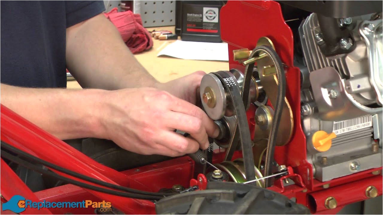 how to replace the idler pulleys on a troy bilt super bronco tiller part 684 04168