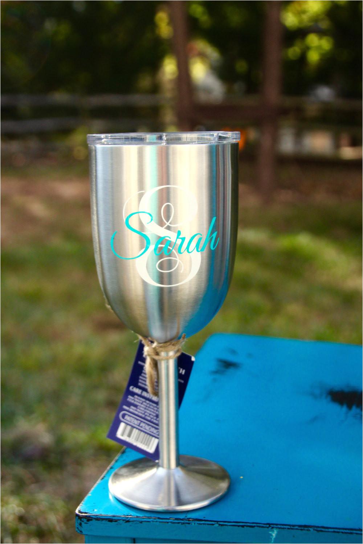 True north Insulated Wine Glass True north Wine Glass Stainless Steel Wine Tumbler Monogram Etsy