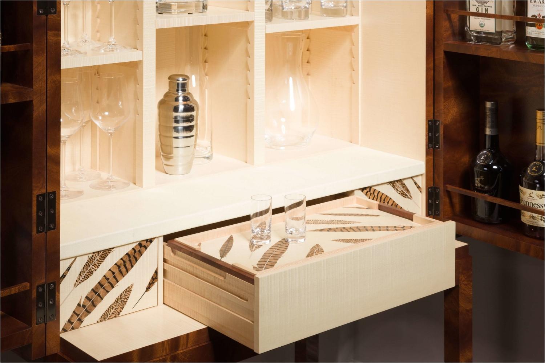 hen pheasant cocktail cabinet