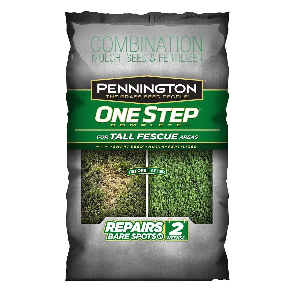8 3 lb one step complete for tall fescue with smart seed mulch fertilizer