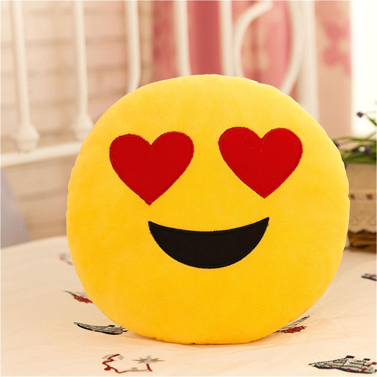 30cm cute creative emoji pillow soft stuffed plush toy doll round emoticon cushion home decor sofa bed throw smiley face pillow replacement cushions outdoor