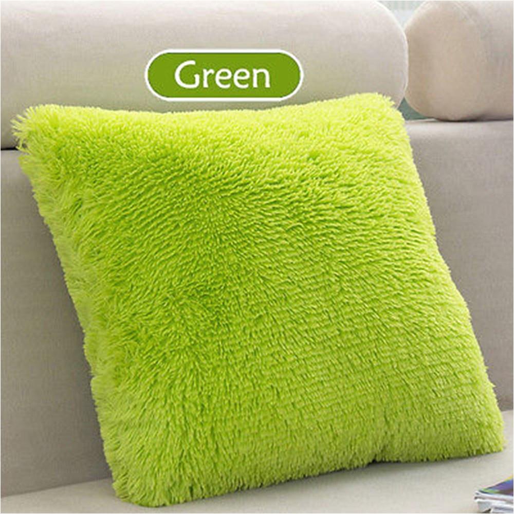 43 x 43cm plush cushion pillow sofa fluffy throw silver grey rose coffee orange pillow stuffed back cushion birthday gift in cushion from home garden
