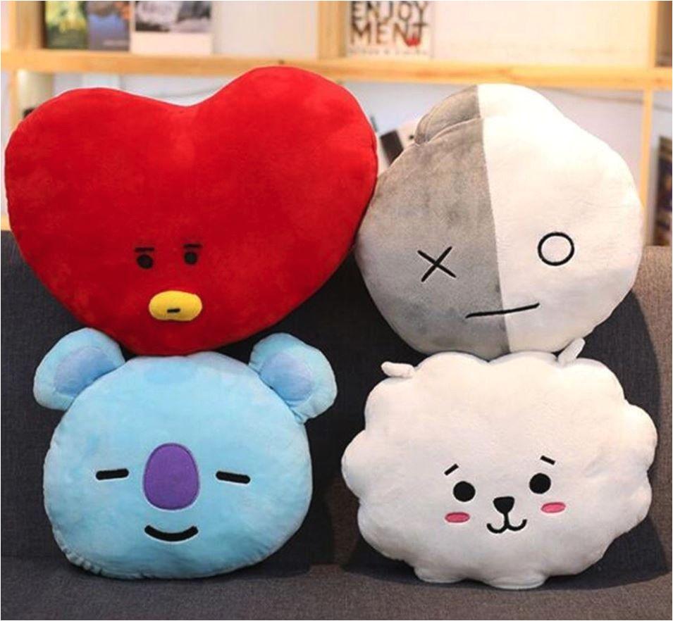 bts bt21a a a stuffed plush toy pillow doll cushion tata shooky rj koya chimmy cooky