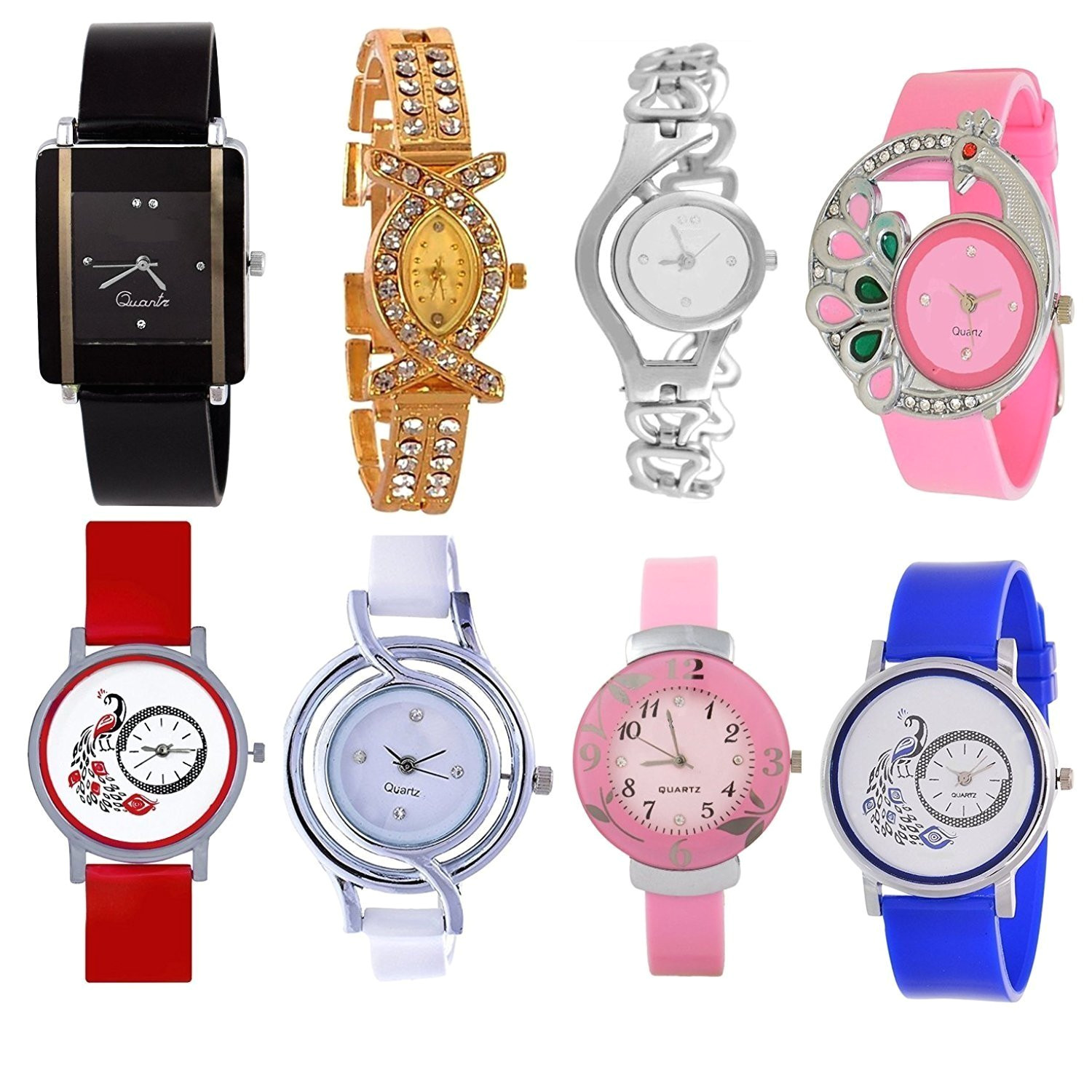 buy opendeal analog multicolor watches for girls womens od w257 pack of 8 online at low prices in india amazon in