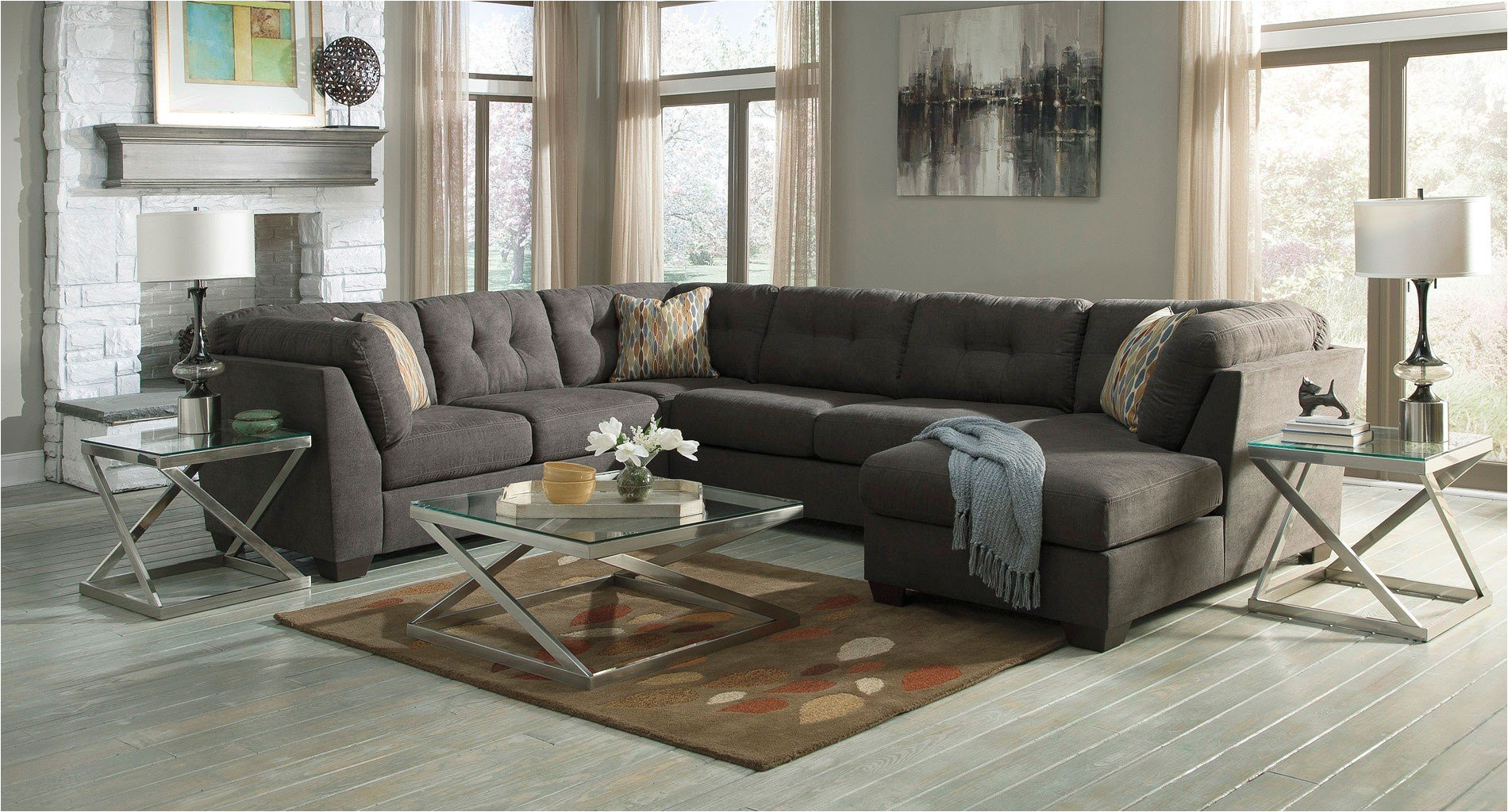 delta city sectional steel set benchcraft furniturepick jpg