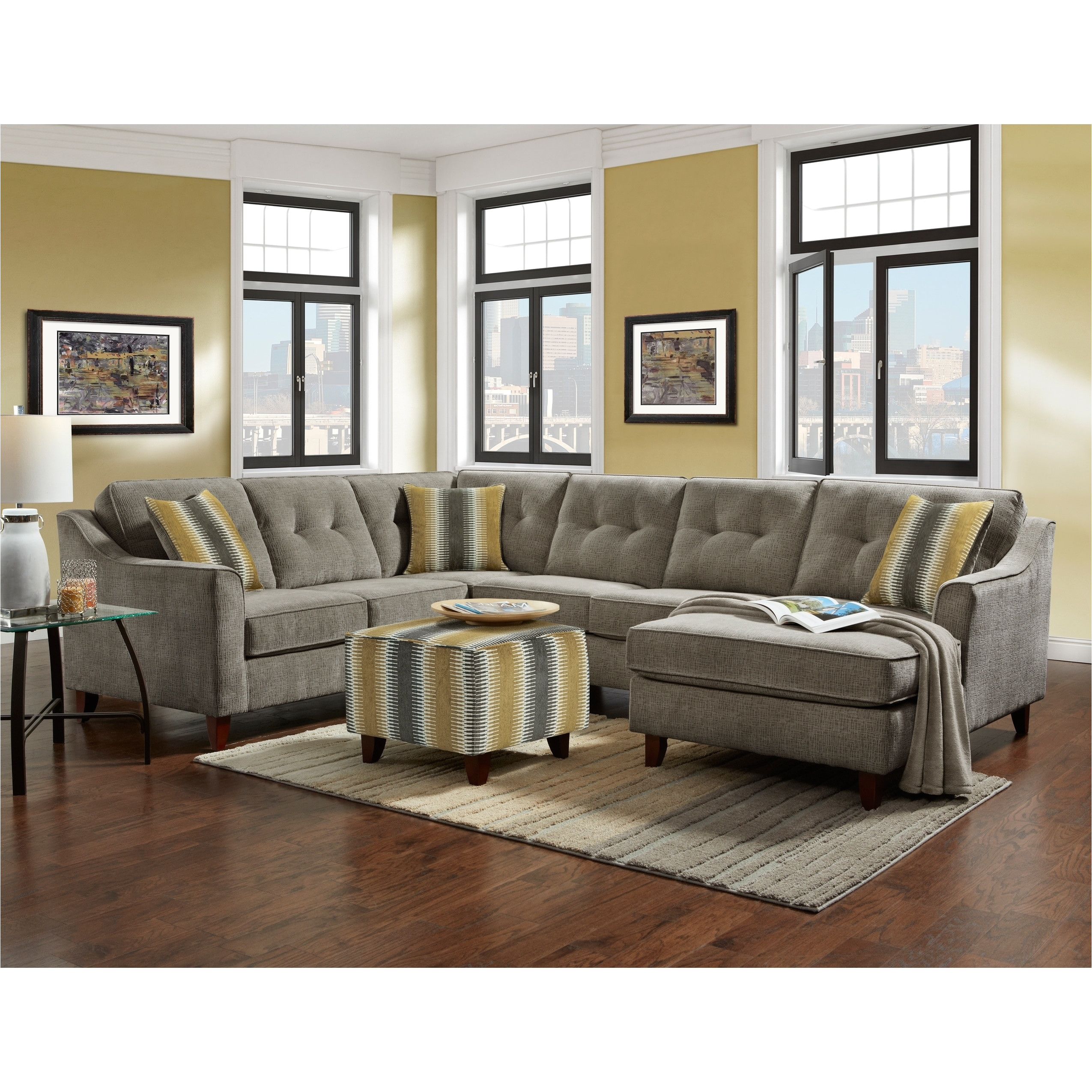 gray tufted sectional shop sofatrendz bally free shipping today jpg