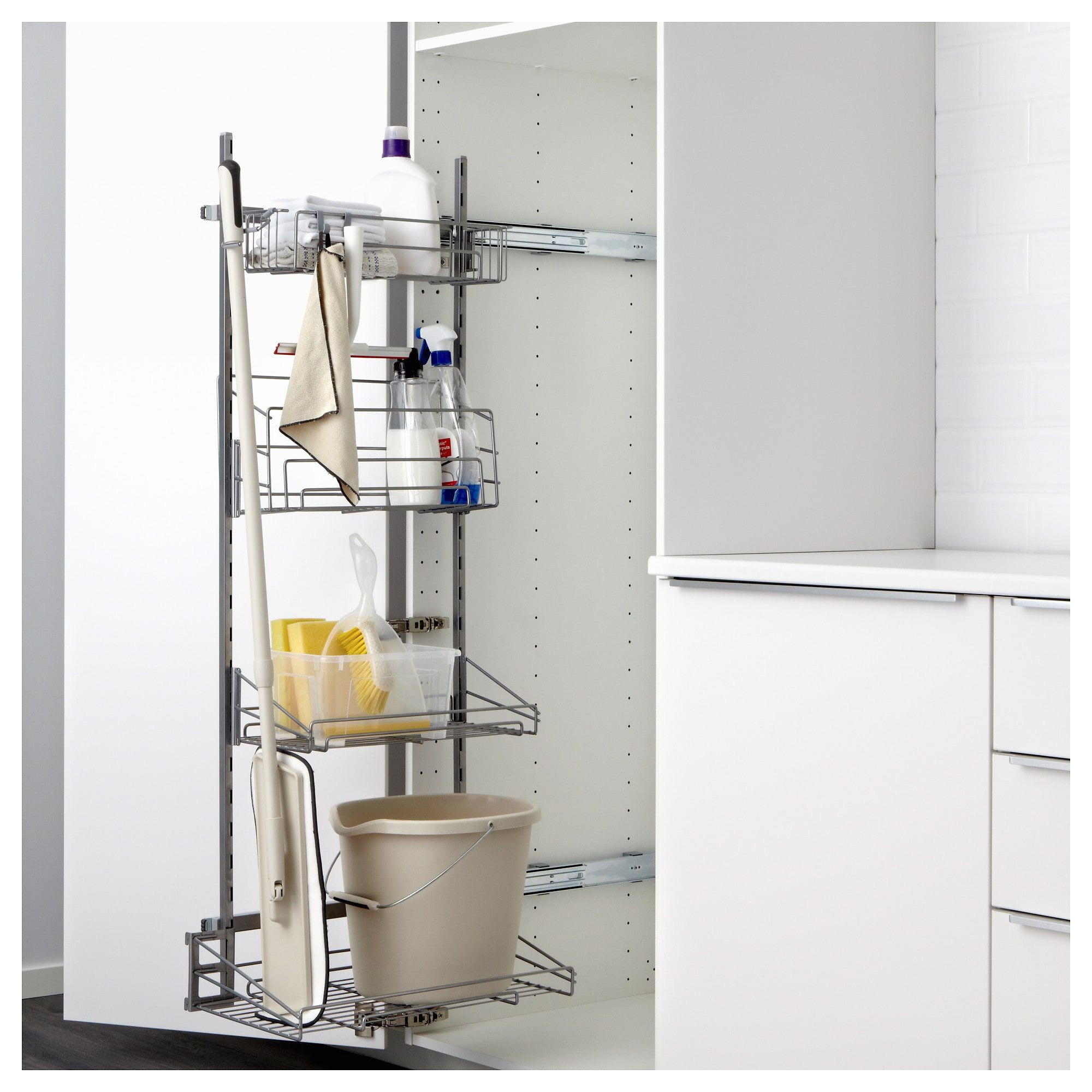 utrusta pull out rack for cleaning supplies ikea