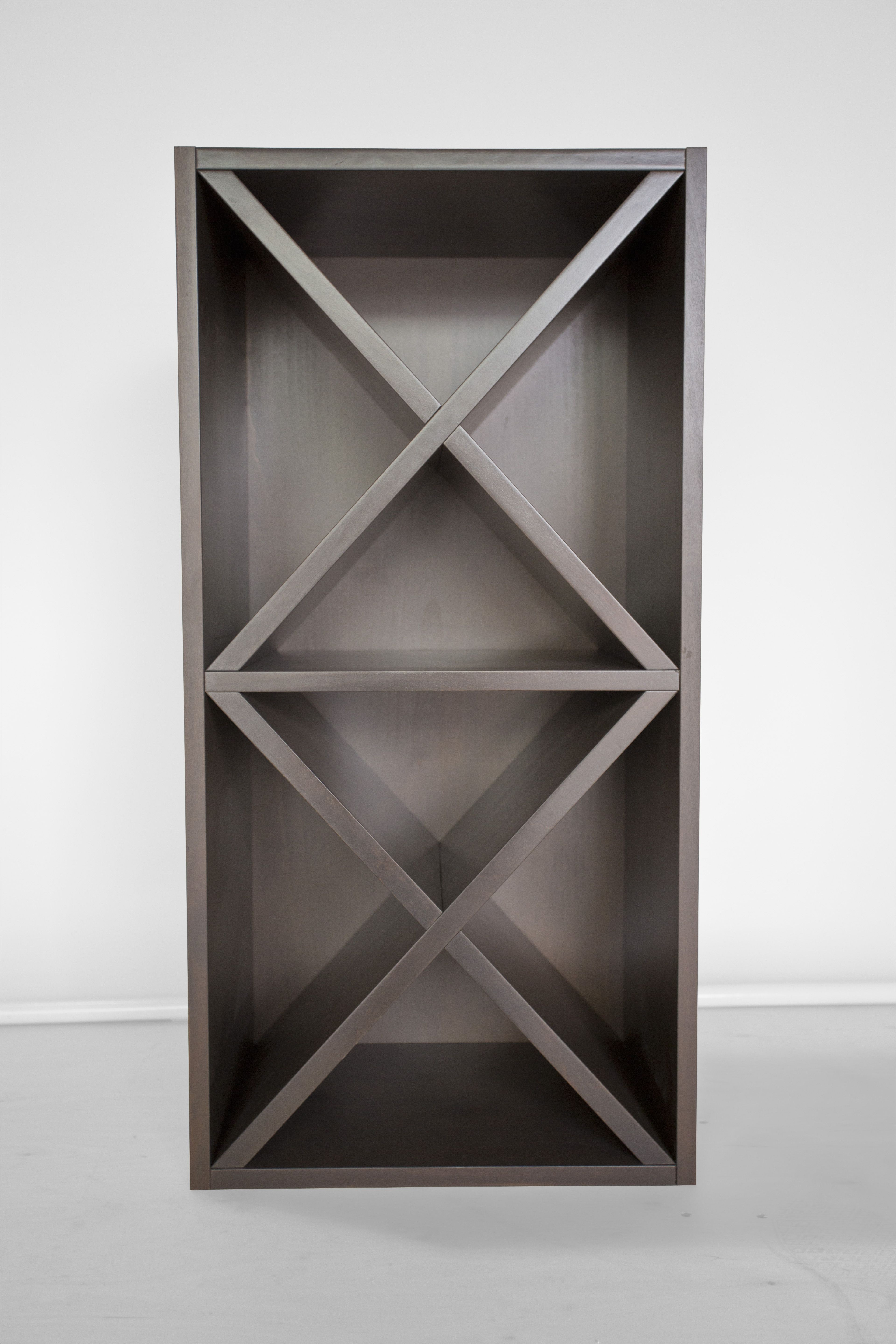 custom x wine rack with custom paint color