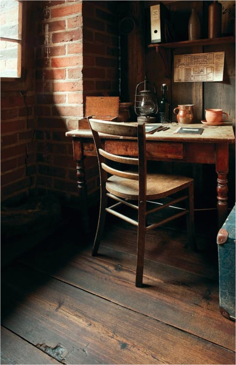 reclaimed wood imparts the look of centuries old boards