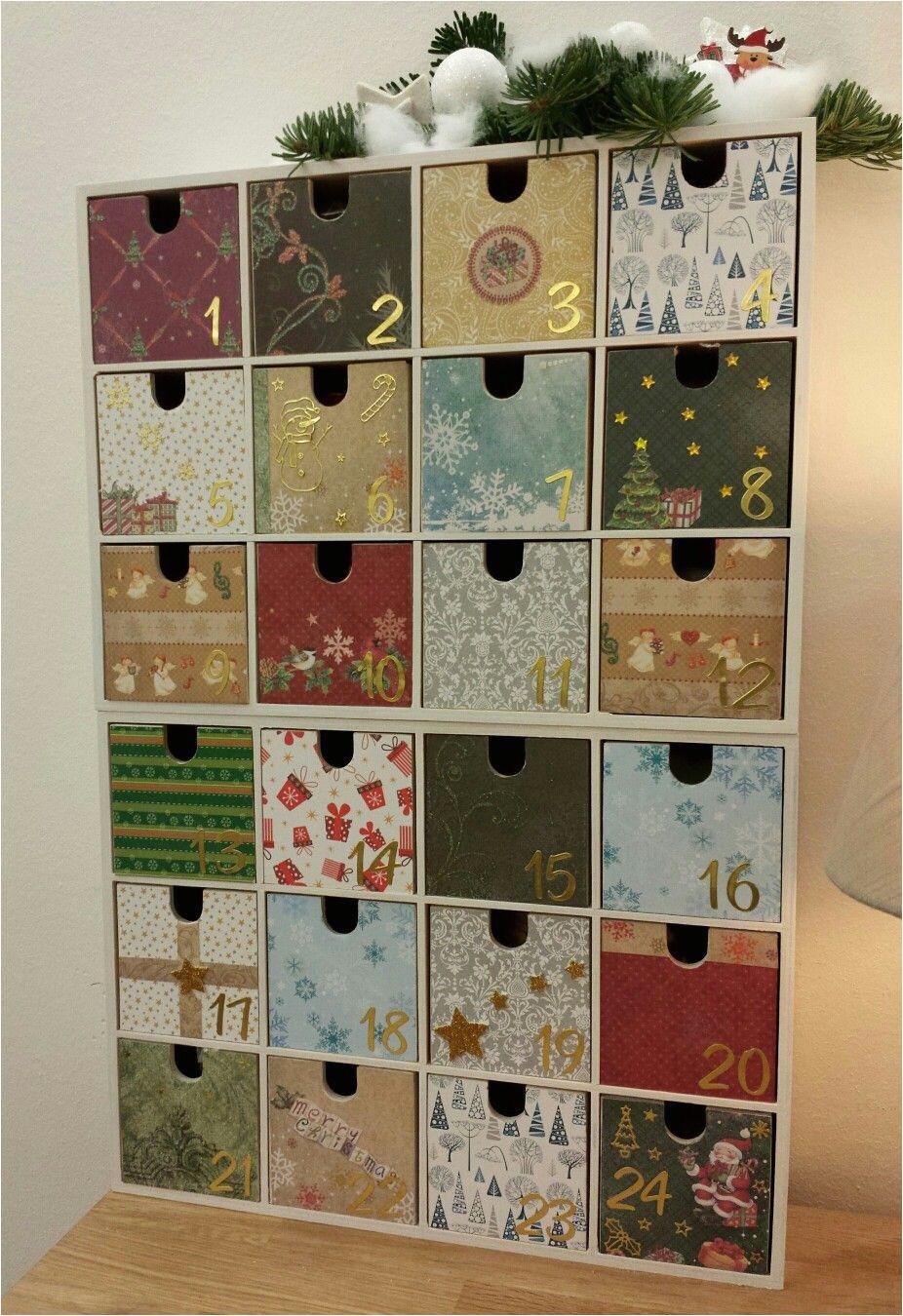 adventskalender aus ikea moppe kommoden beklebt und lackiert