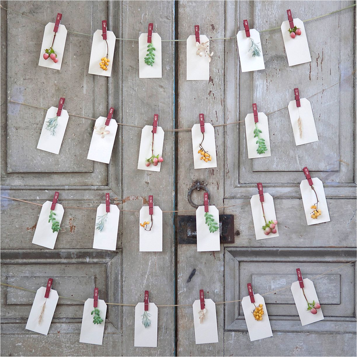 numbered advent clips in new shop holiday preview at terrain