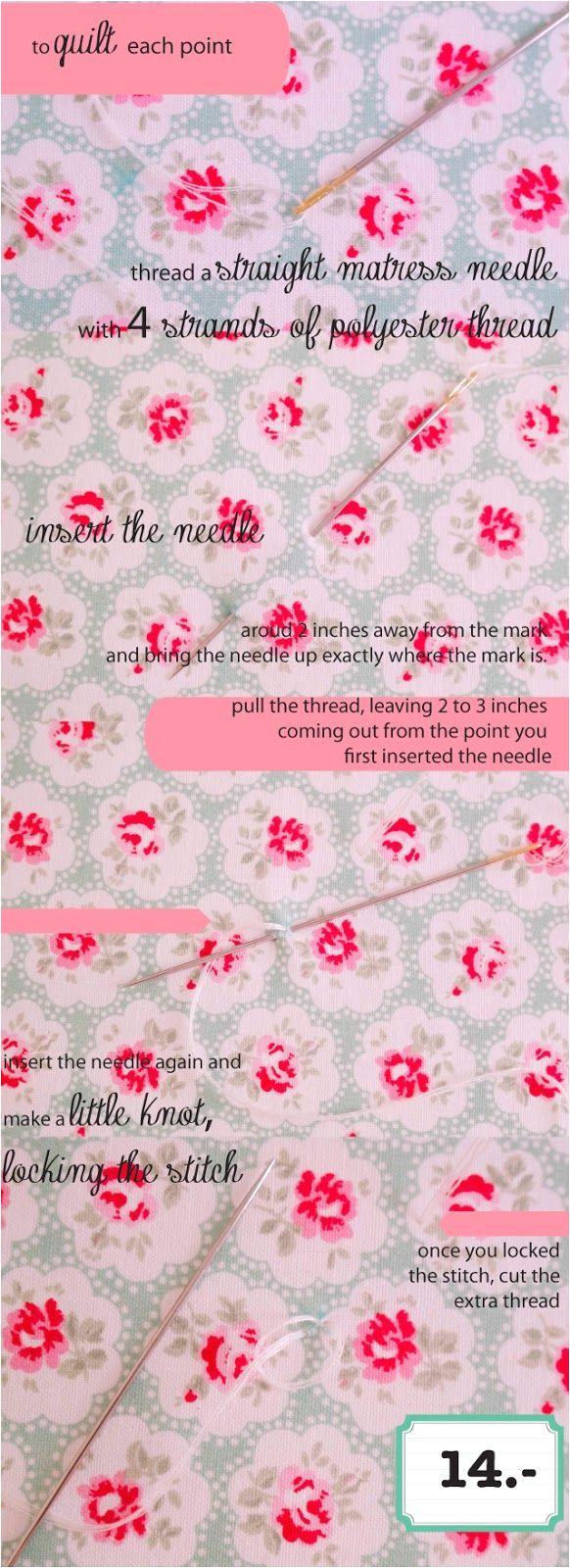 quilted floor cushion tutorial english version