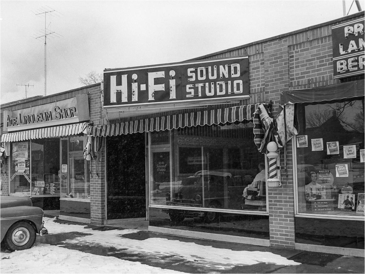 hi fi sound studio at 115 fourth st se in 1955