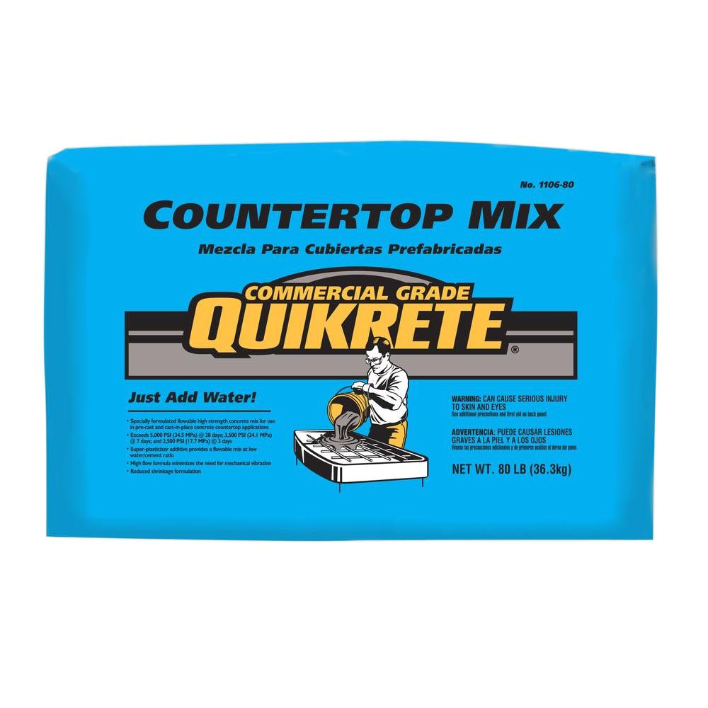 quikrete 80 lb commercial grade countertop mix