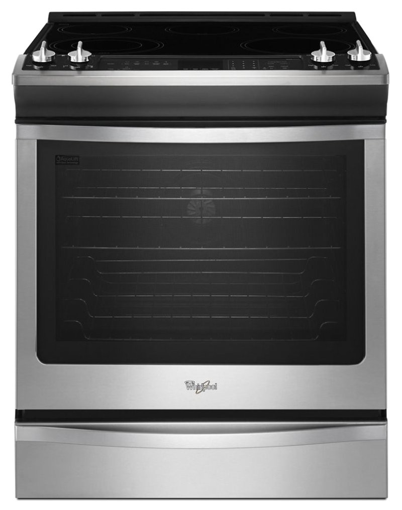 6 2 cu ft front control electric stove with fan convection hidden