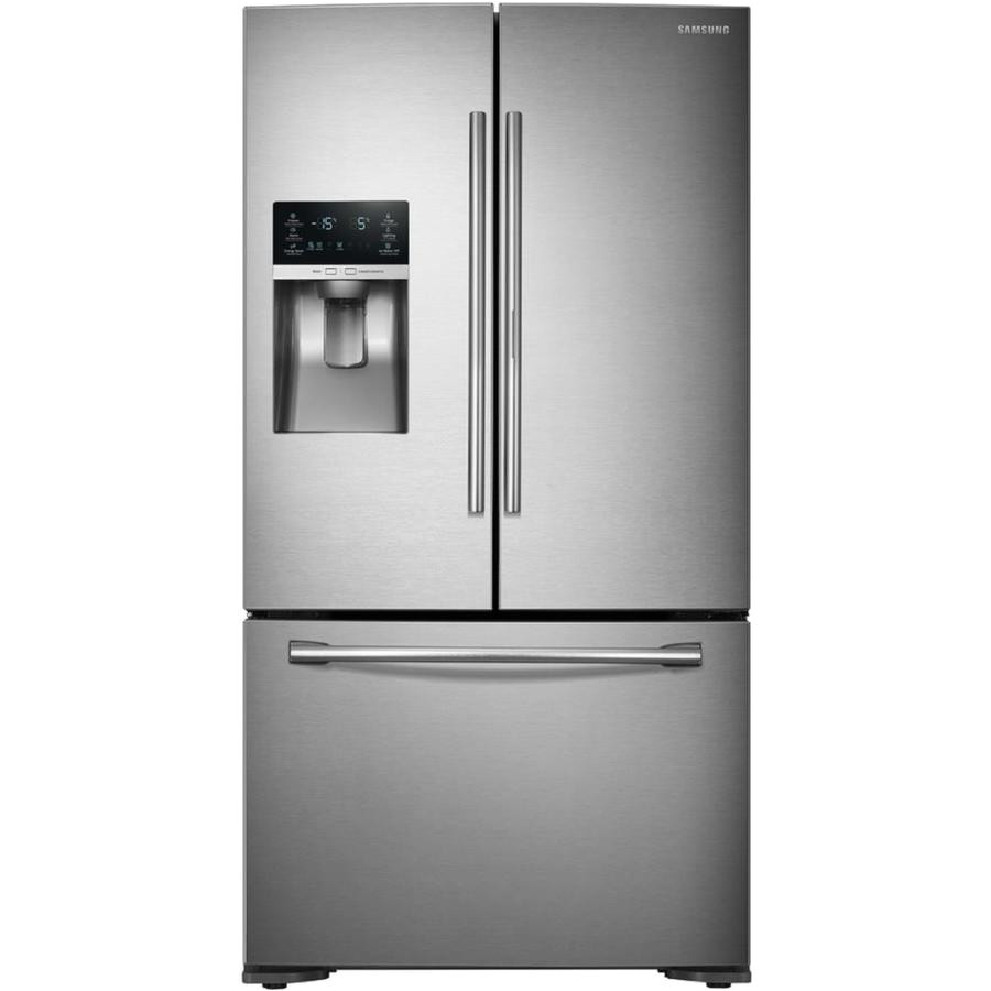 samsung food showcase 22 5 cu ft counter depth french door refrigerator with ice maker