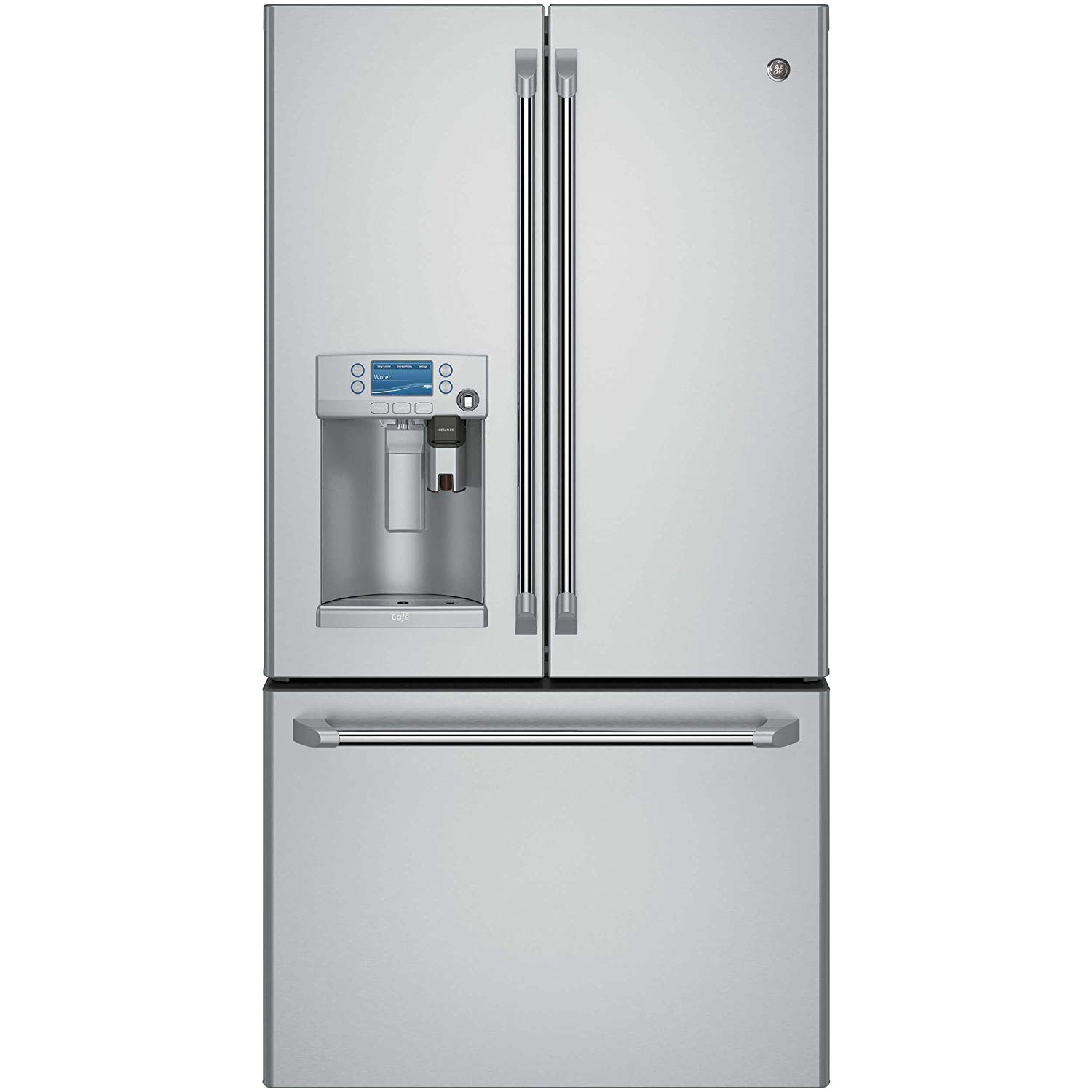 amazon com ge cfe28ushss cafe 27 7 cu ft stainless steel french door refrigerator energy star appliances