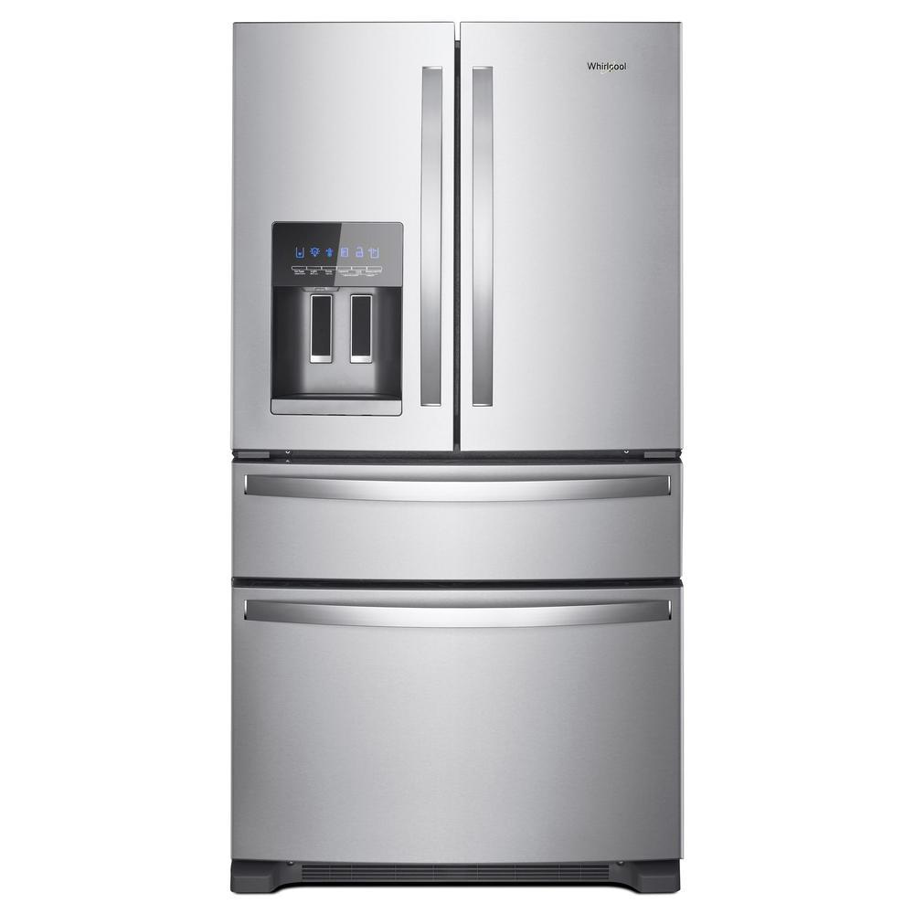 french door refrigerator in fingerprint resistant stainless steel
