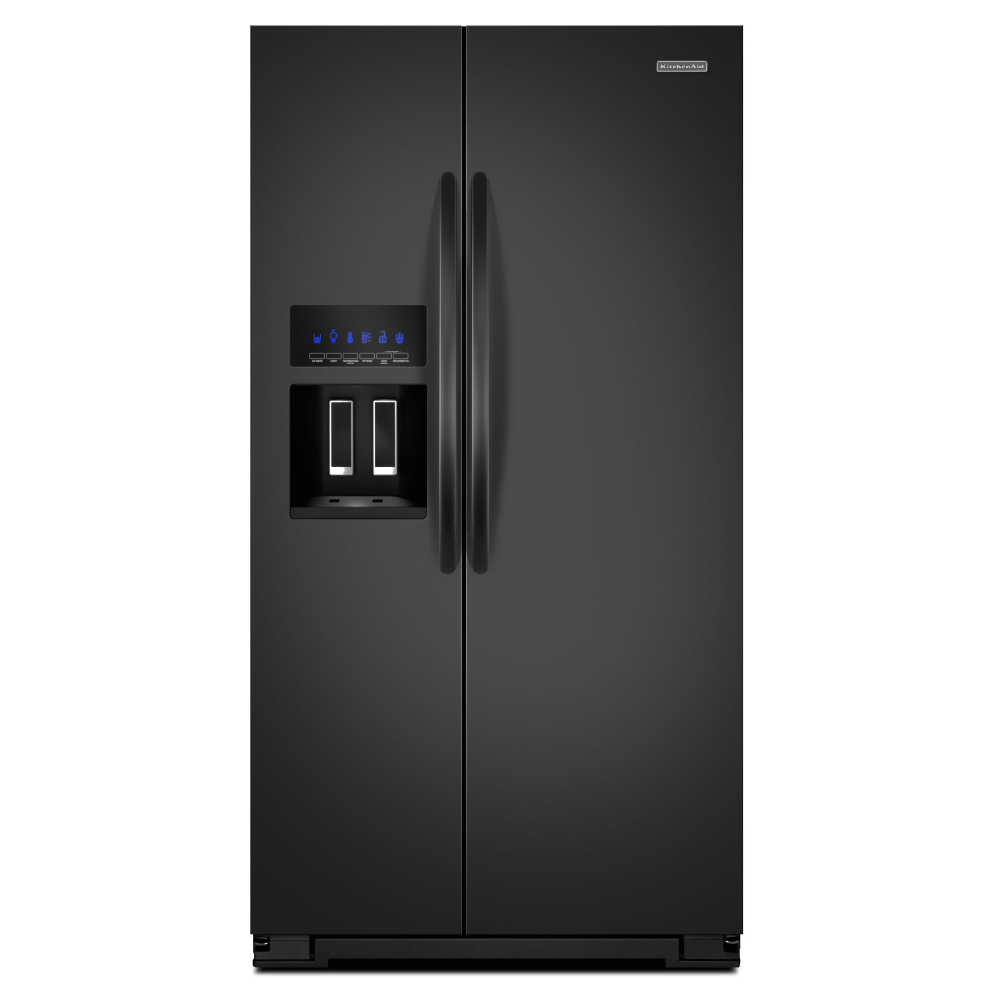 kitchenaid ksc24c8eyb 23 9 cu ft counter depth side by side refrigerator black