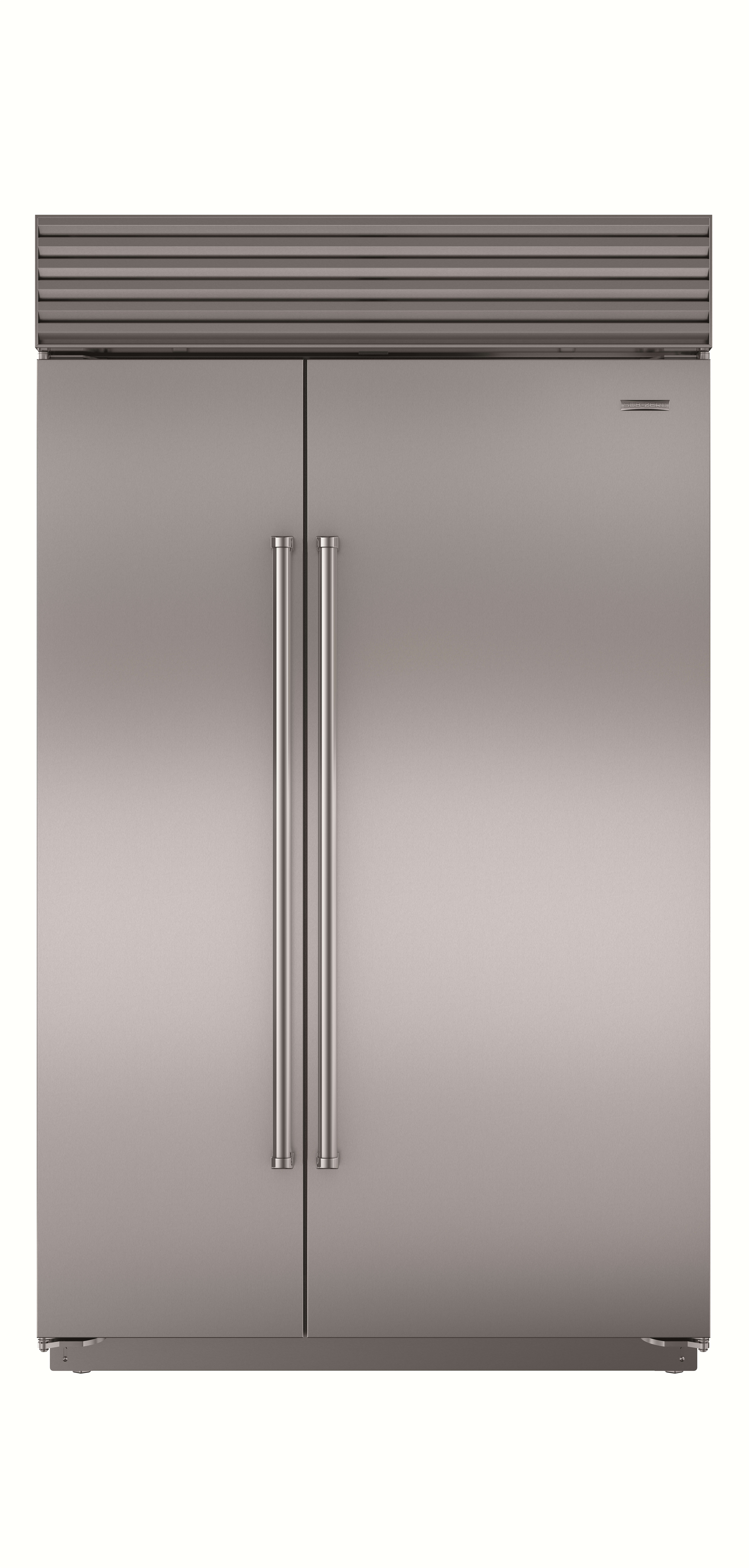 sub zero bi48ssph 48 inch built in side by side refrigerator with 28 9 cu ft capacity dual refrigeration microprocessor control air purification