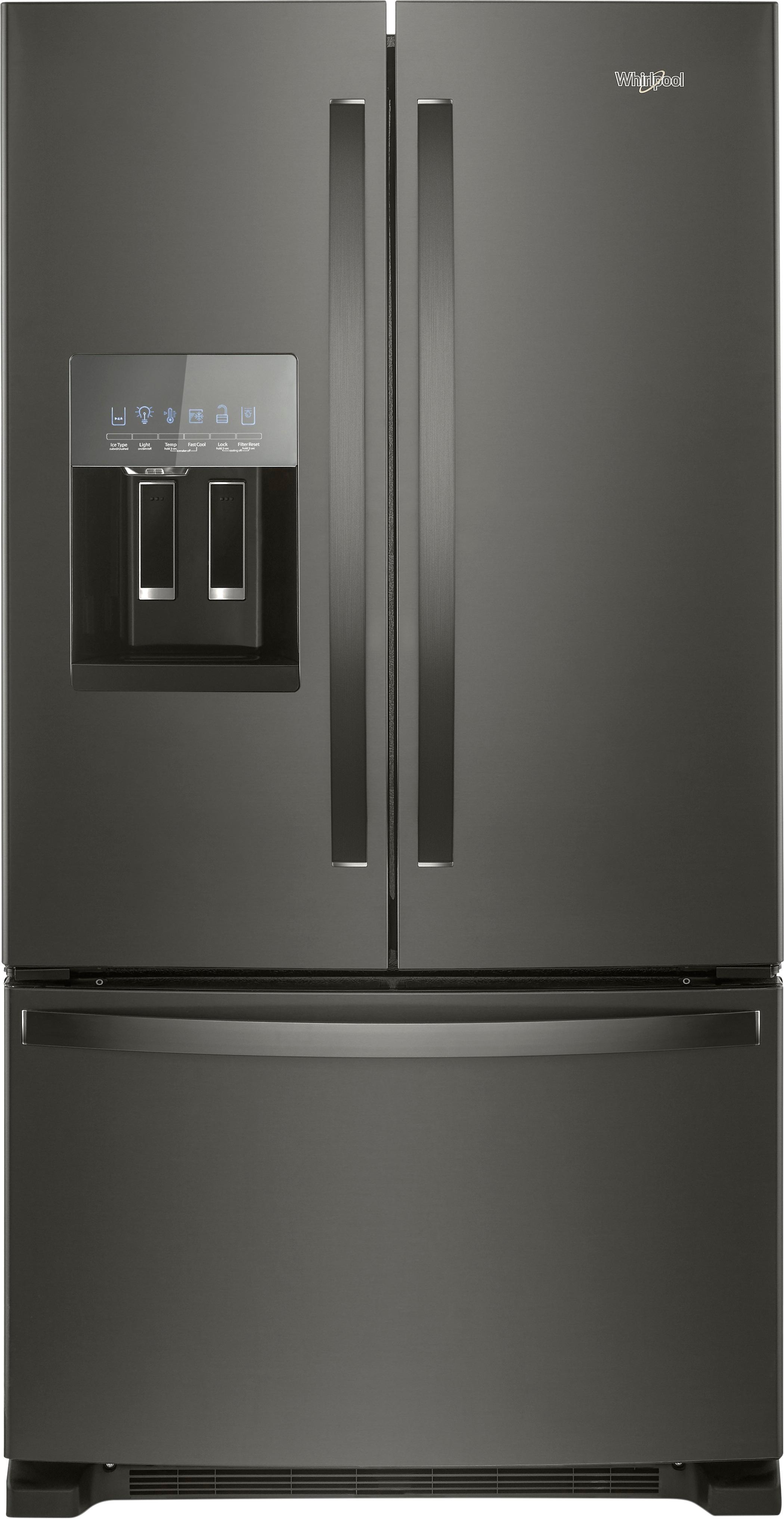 ft french door refrigerator gray wrf555sdhv best buy