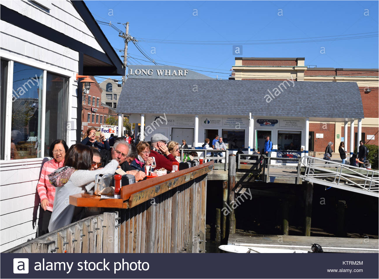 the portland lobster restaurant in portland maine stock image