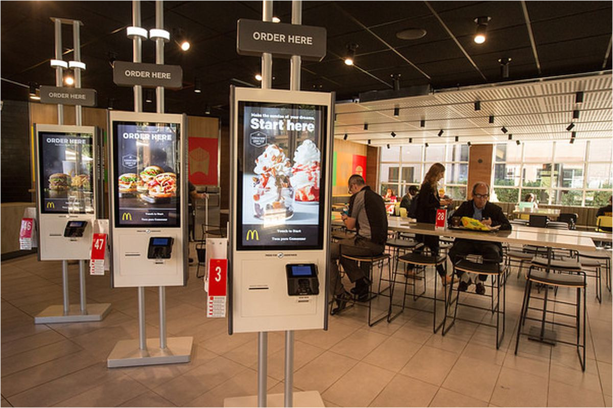 the mcdonald s of the future has table service and touch screen ordering