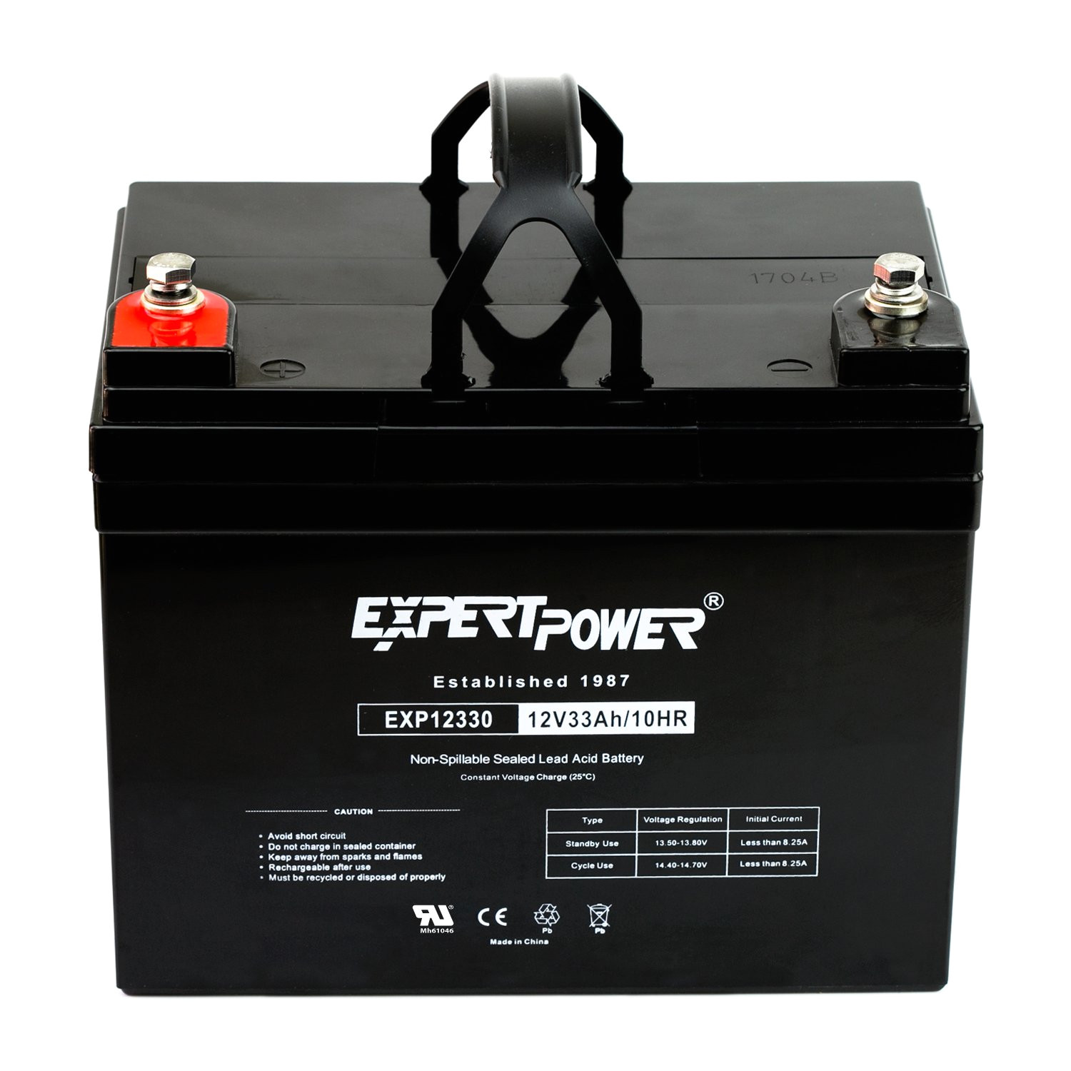 Various Types Of Batteries Used In Industries Amazon Com Expertpower 12v 33ah Rechargeable Deep Cycle Battery
