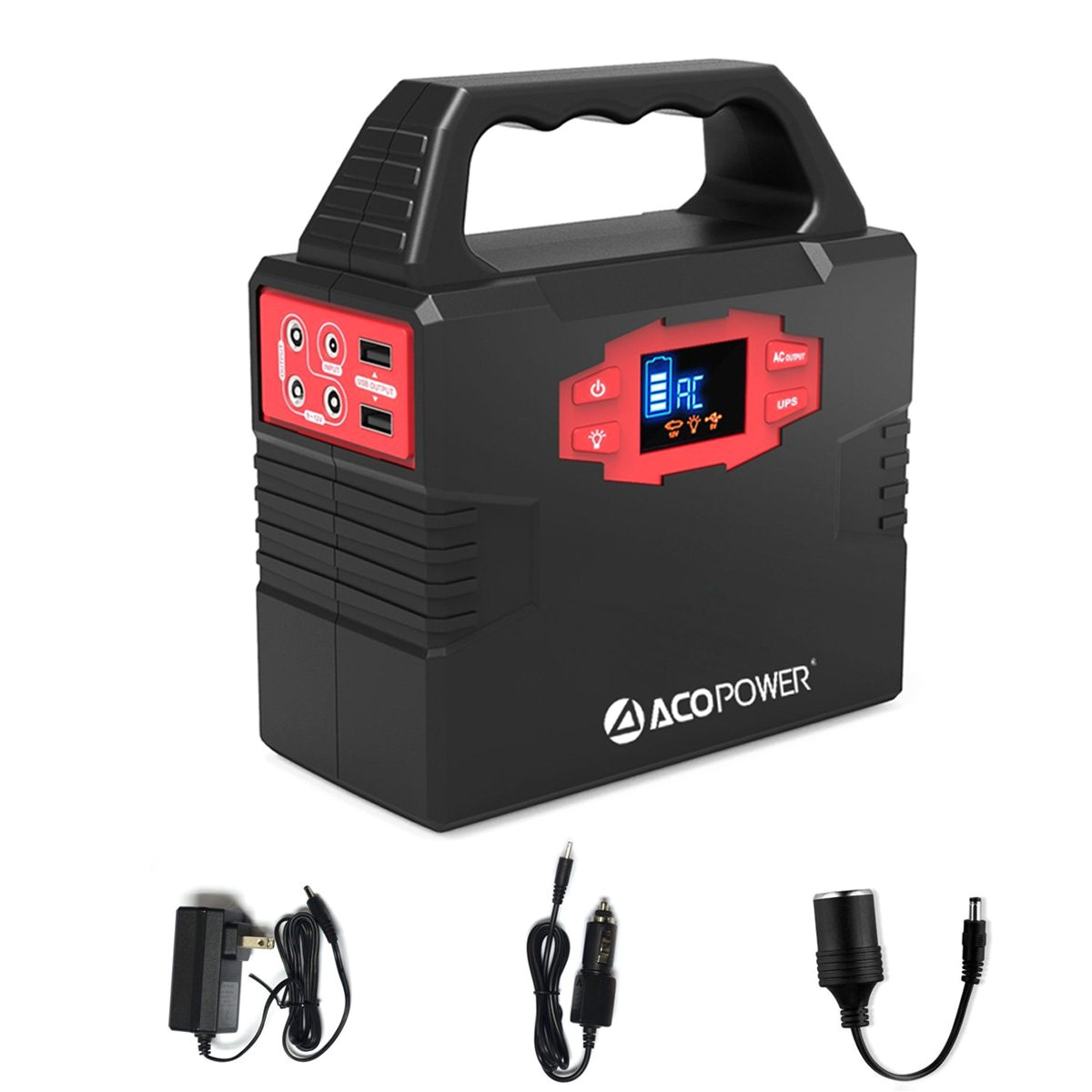 amazon com acopower 150wh 40 800mah portable generator power supply solar energy storage lithium ion battery with ac power inverters 110v 60hz