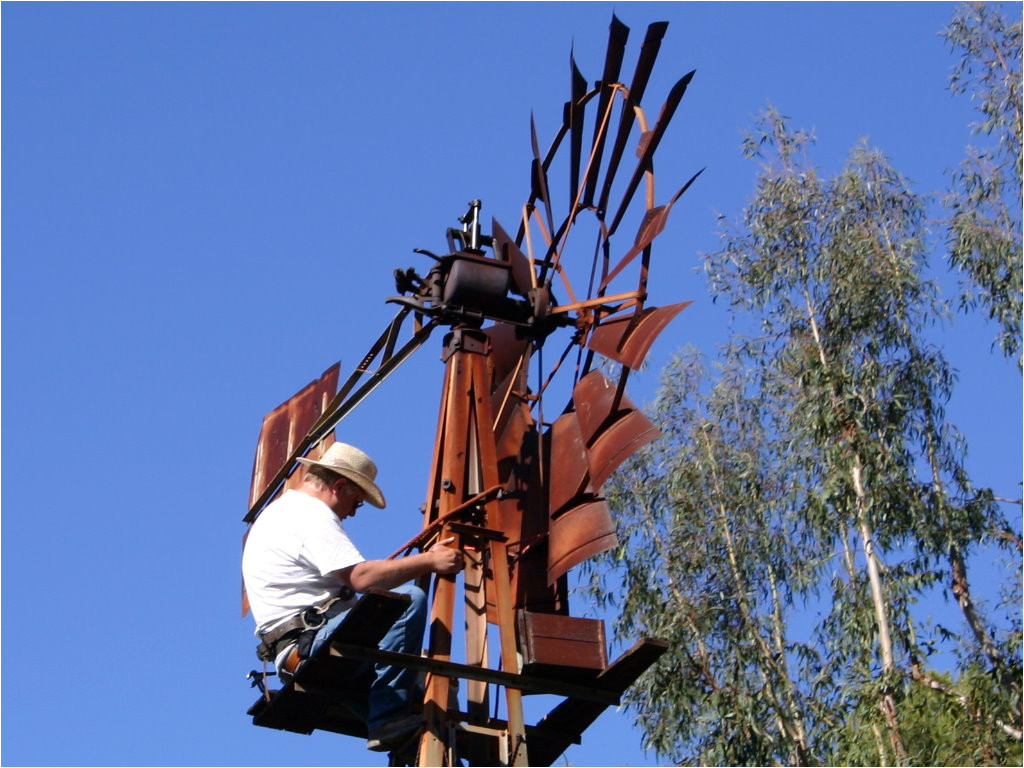 working on dempster windmill