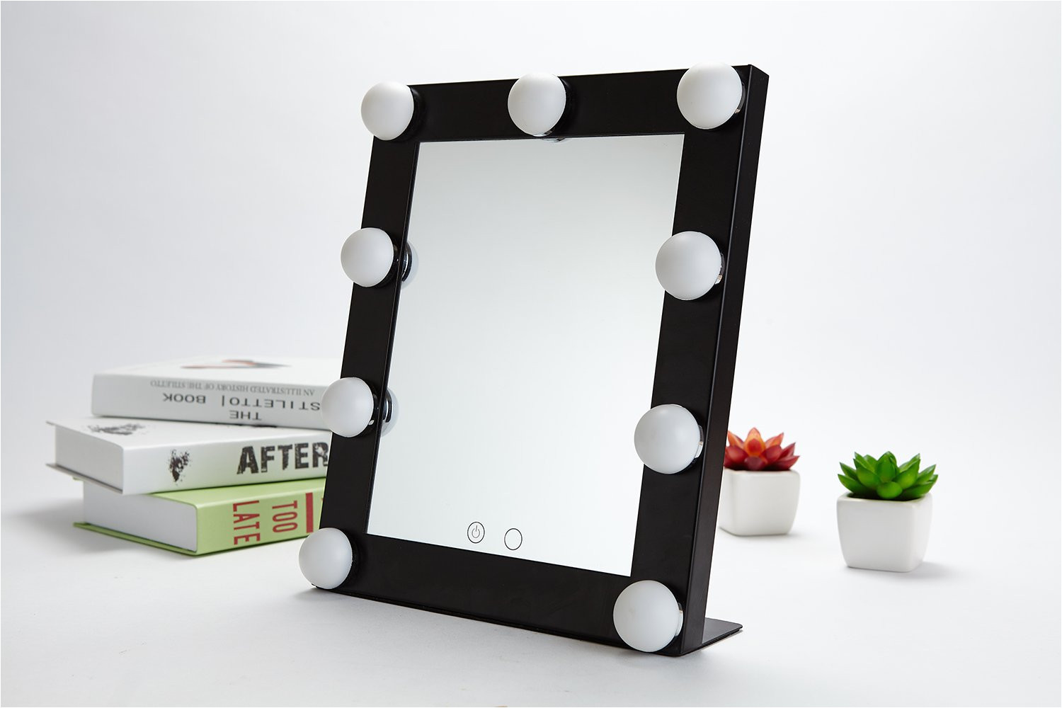 amazon com yvettevans hollywood makeup vanity mirror with light tabletops lighted mirror with dimmer stage beauty mirror valentine s day gift small