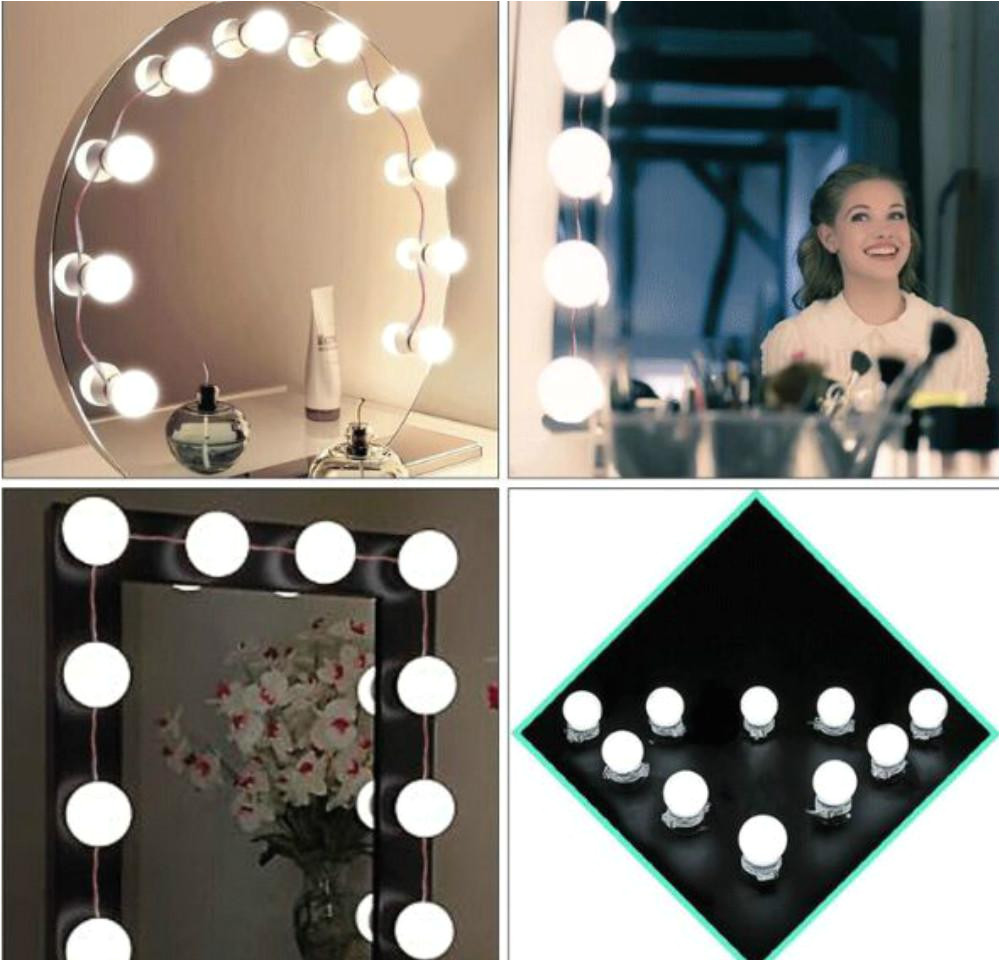 hollywood vanity mirror light kit fashion make up light dimmable bulb led light