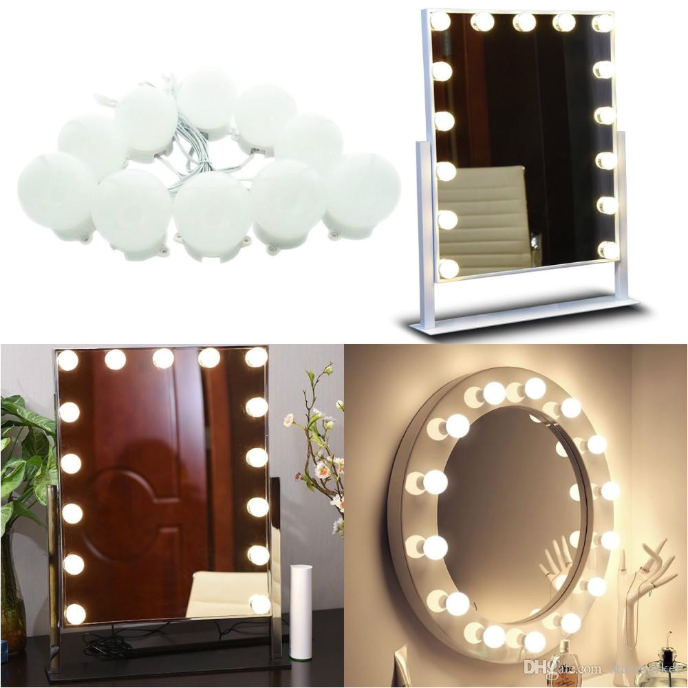 makeup mirror lights hollywood style led vanity mirror lights 3 3m 10led bulbs kit for makeup dressing table with touch dimmer and plug cool string lights