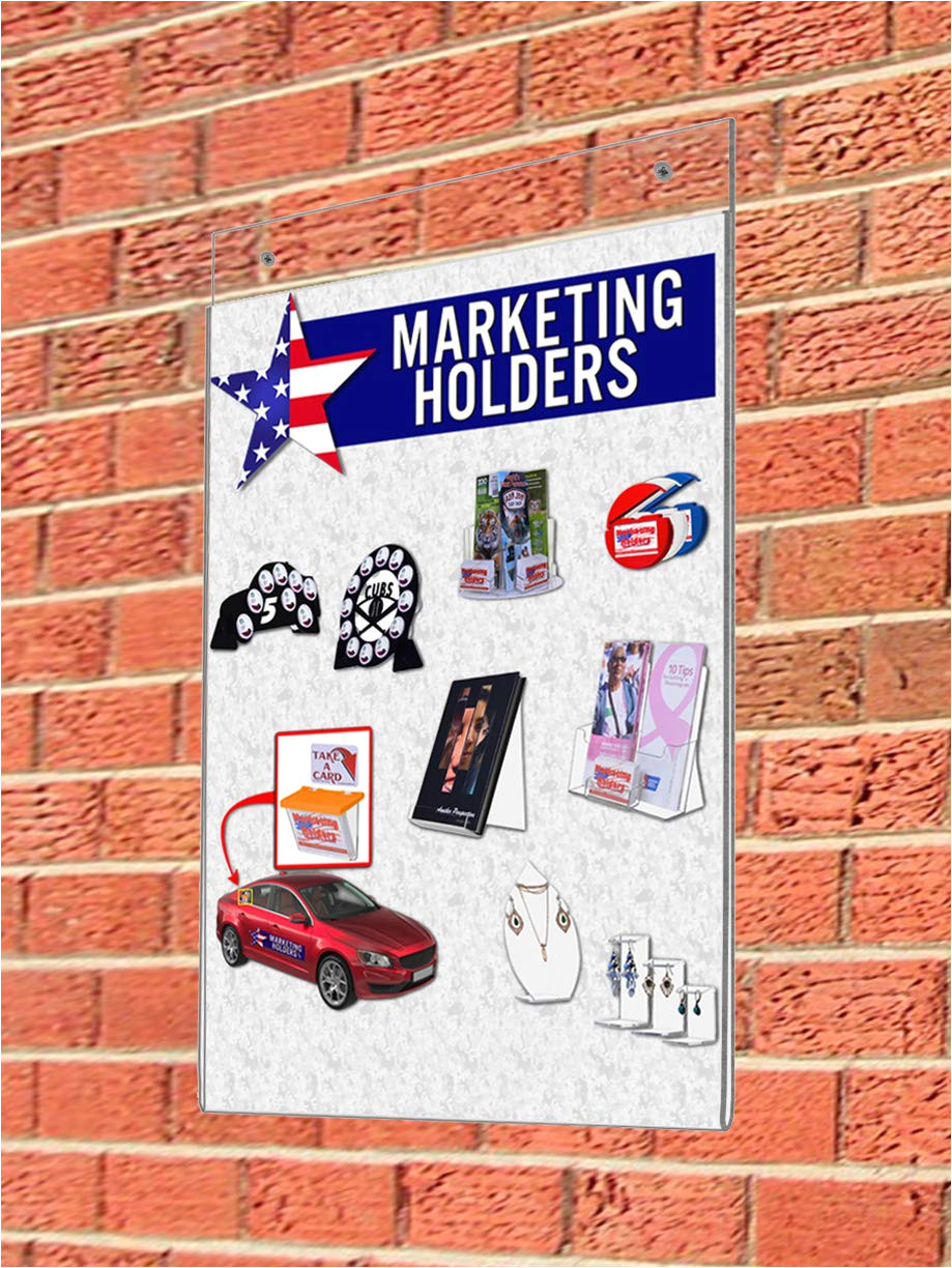amazon com marketing holders set of 10 wall mounted sign holder for 8 5x11 posters clear acrylic easy updating without removing the frame from the wall