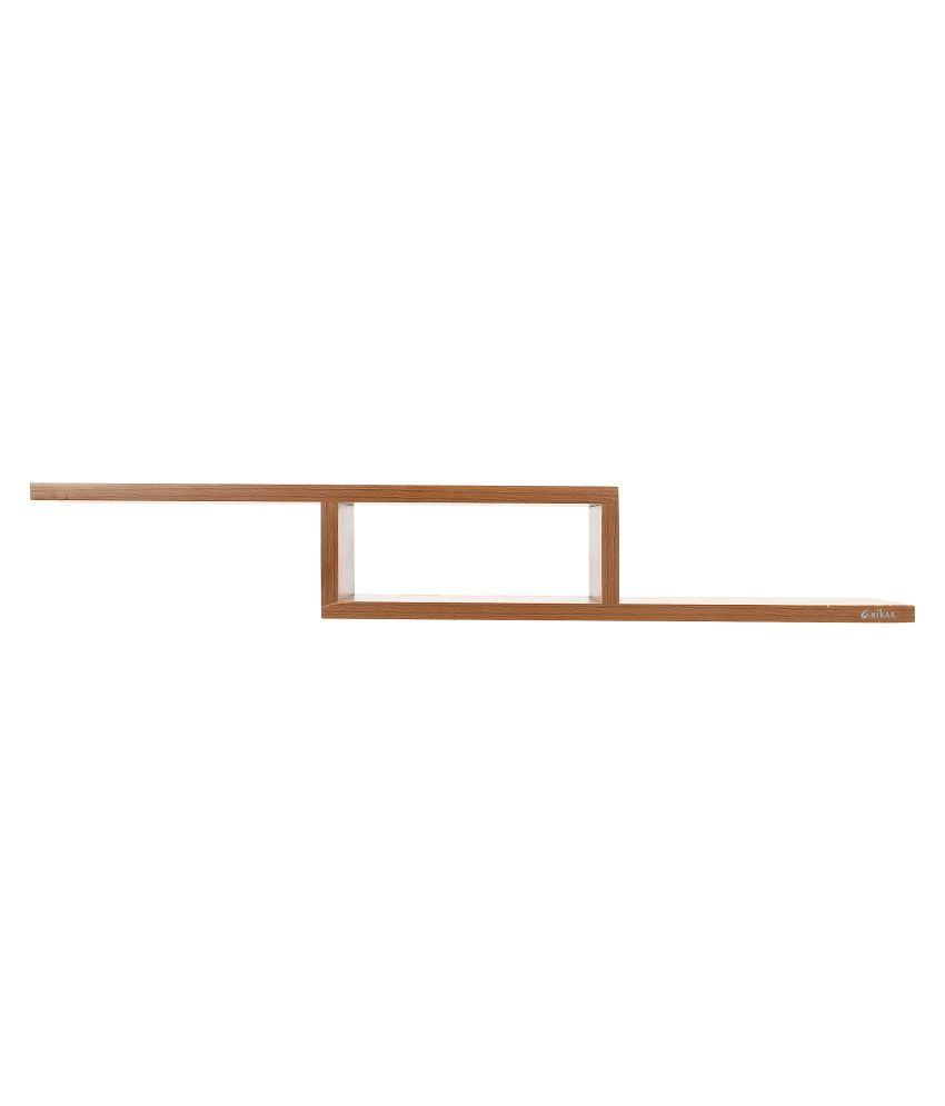 anikaa cavin wooden set top box stand wall mount setup box holder wall shelf walnut
