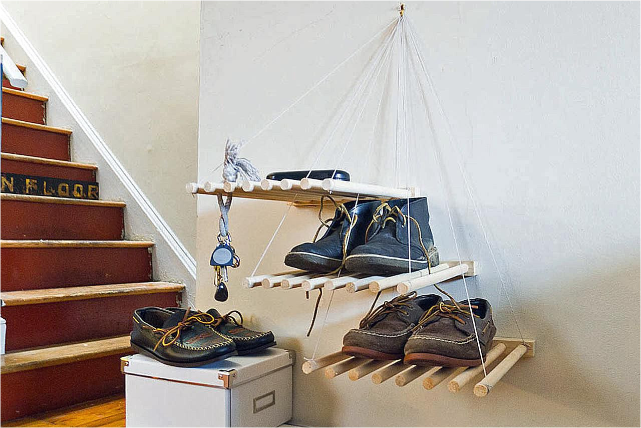 hanging shoe storage via smallspaces about com 3 57bb5b5c3df78c8763fbc70f jpg