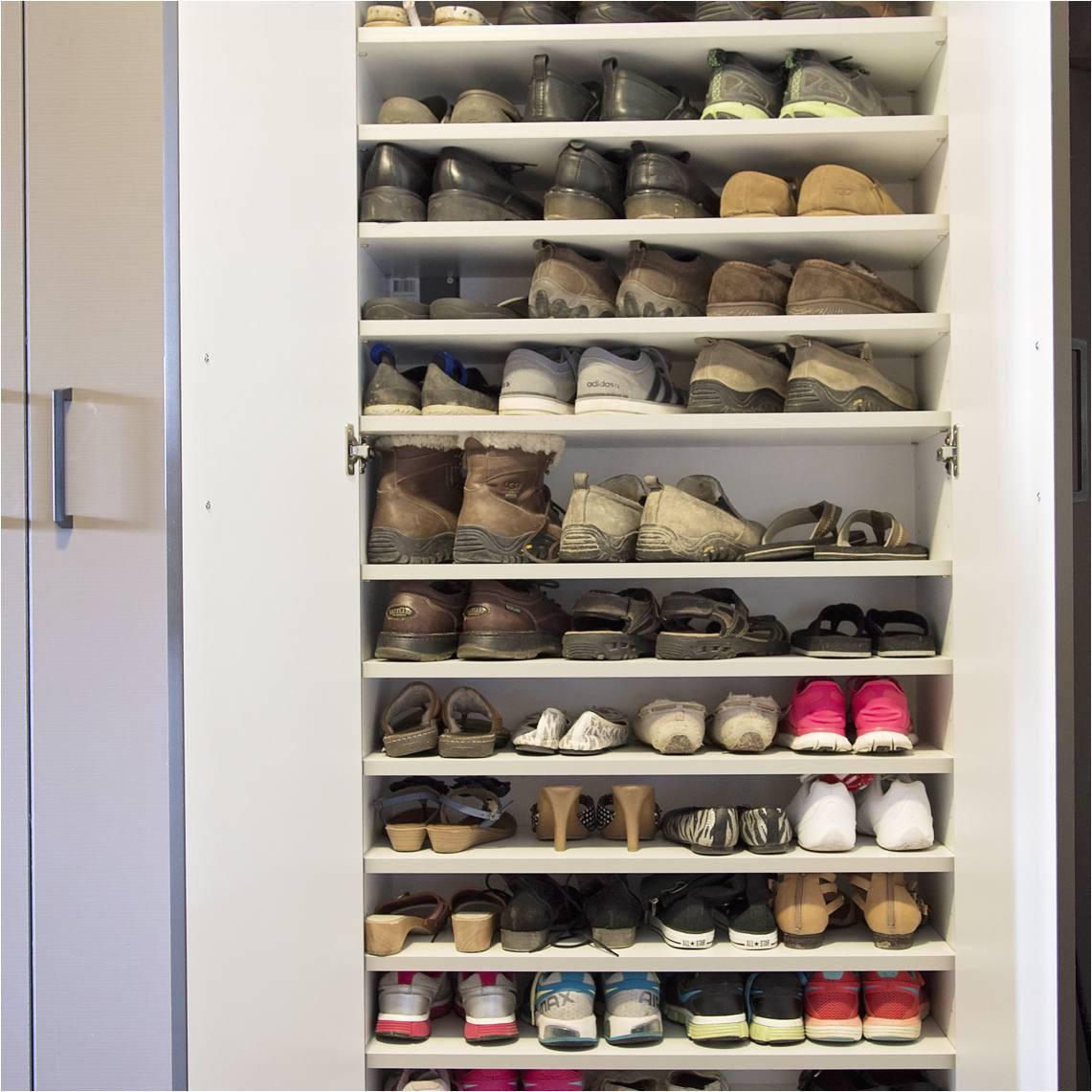 hidden behind doors cabinet shoe storage