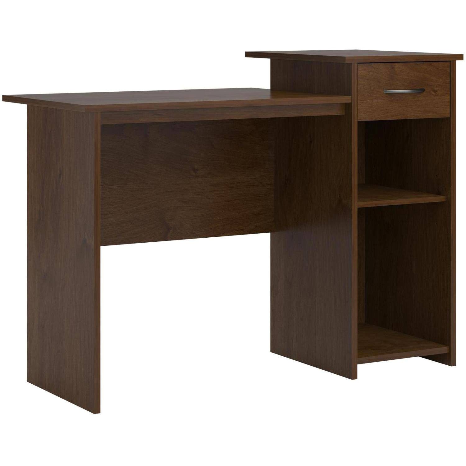 mainstays student desk with easy glide drawer multiple finishes walmart com