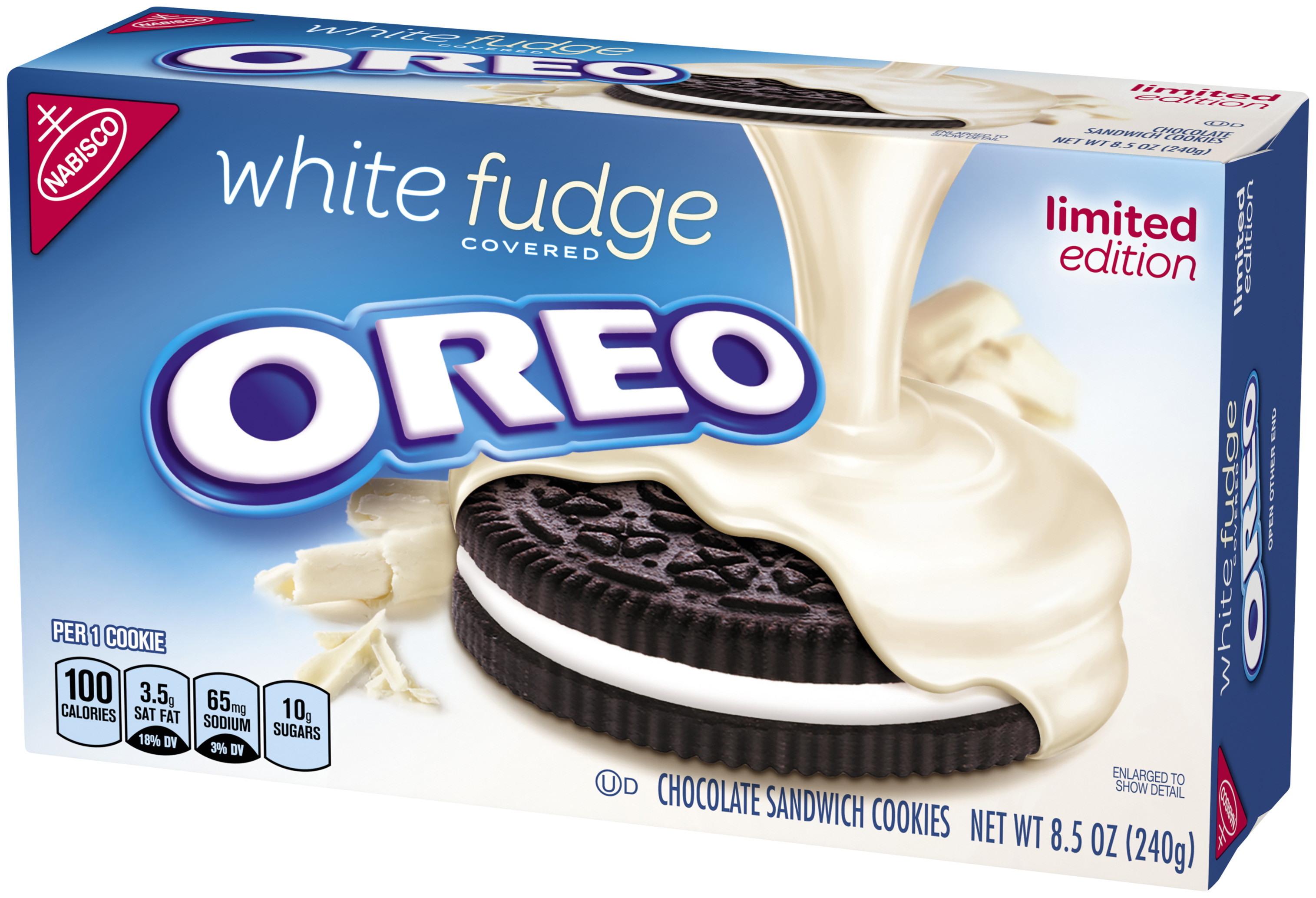 oreo white fudge covered chocolate sandwich cookies 8 5 oz walmart com