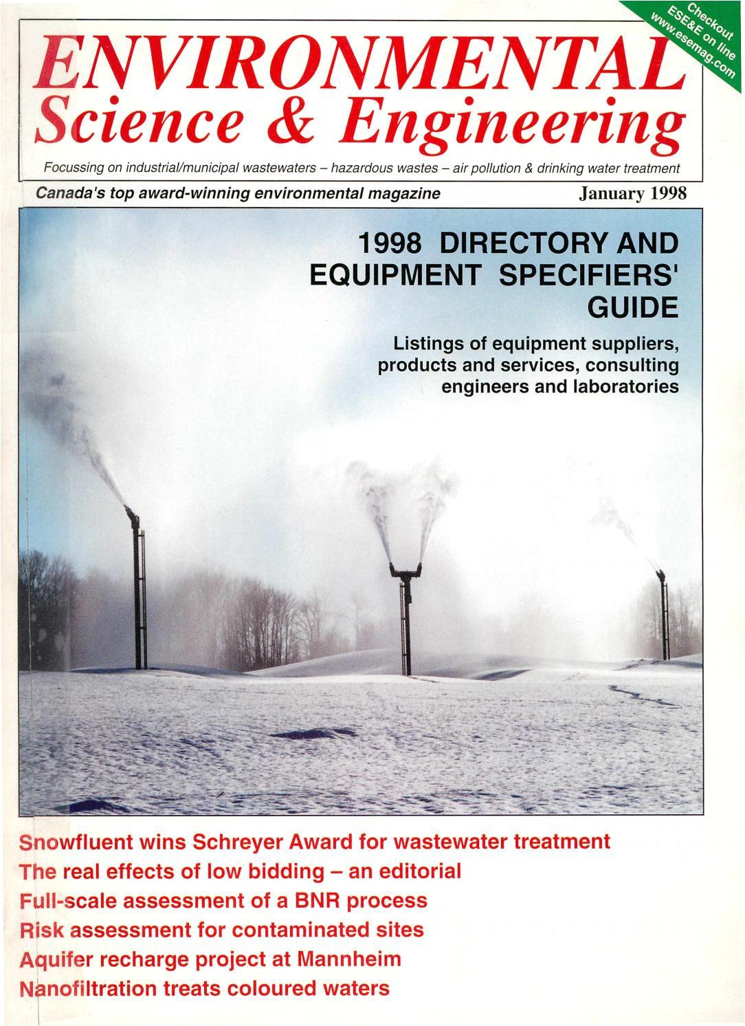 environmental science engineering magazine esemag january 1998 by environmental science and engineering magazine issuu