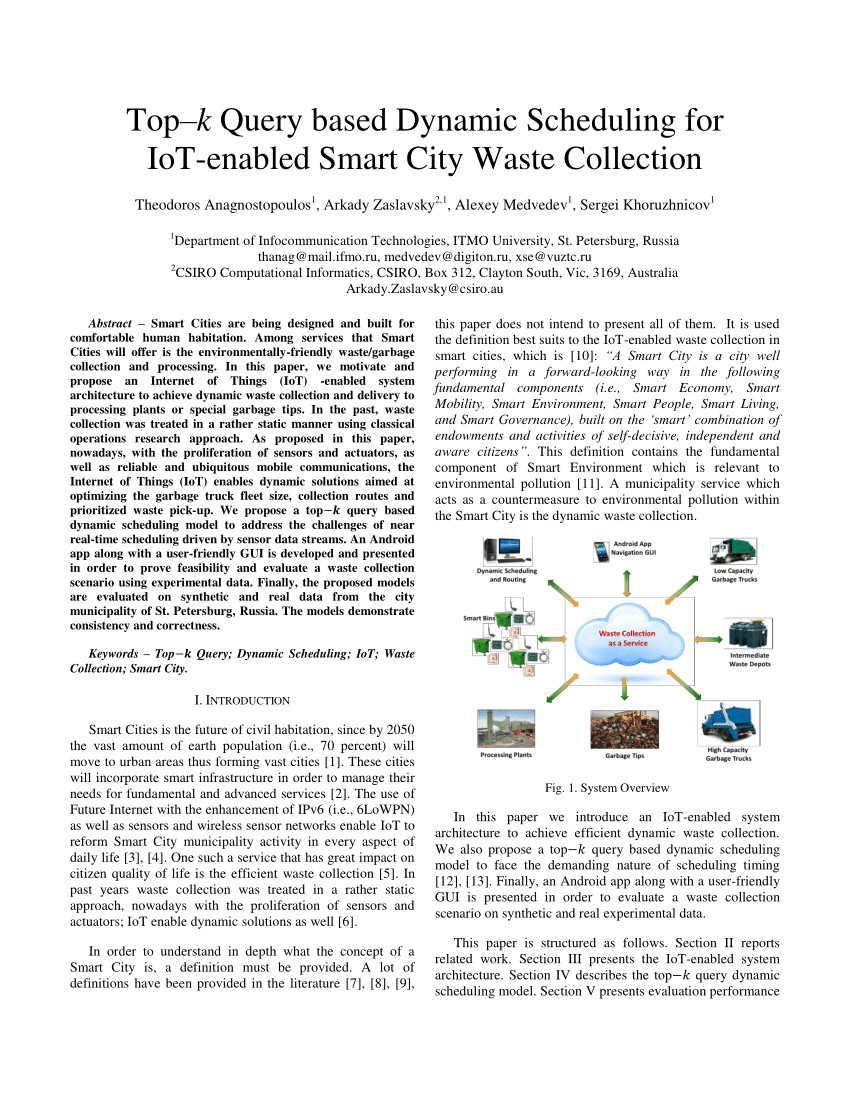 pdf using simulation to assess the opportunities of dynamic waste collection